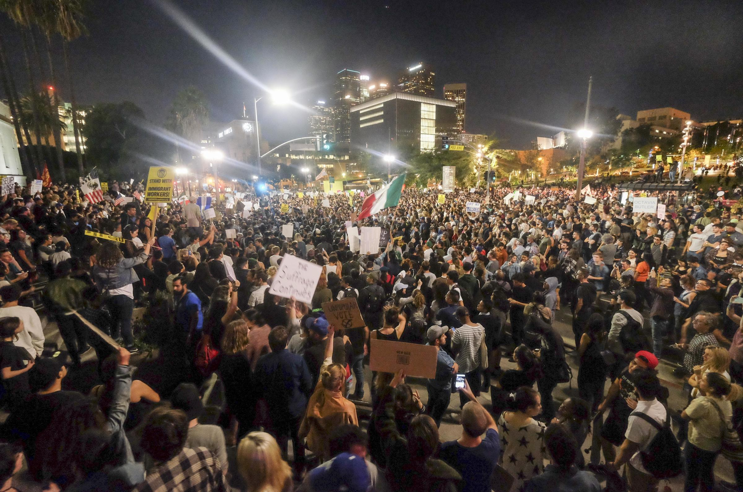 Across The Country, Thousands March In Protest Against ...