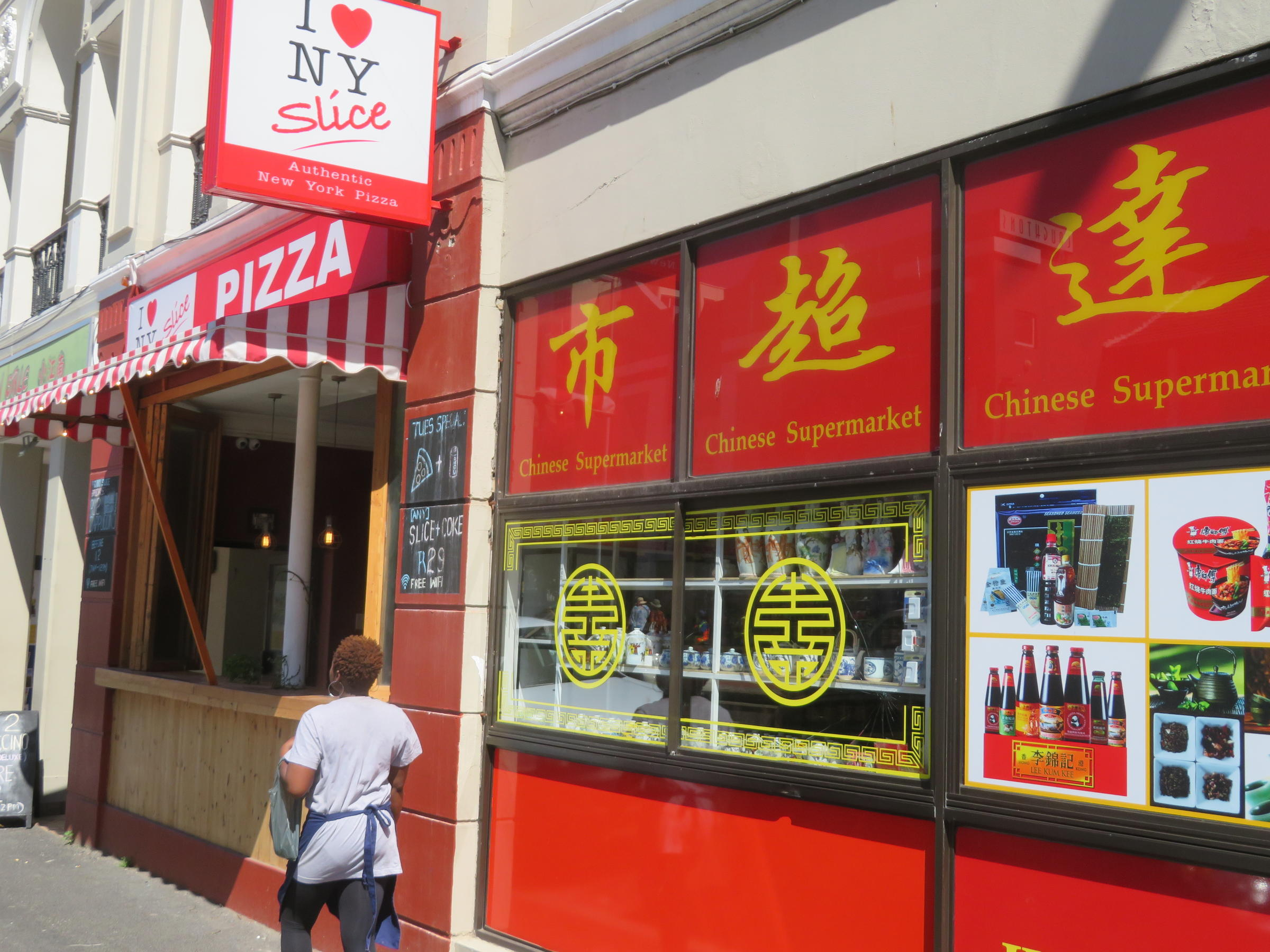 In The Cape Town Suburb Of Sea Point You Can Pick Up A Slice New York Style Pizza After Popping Into Hong Da Asian Supermarket