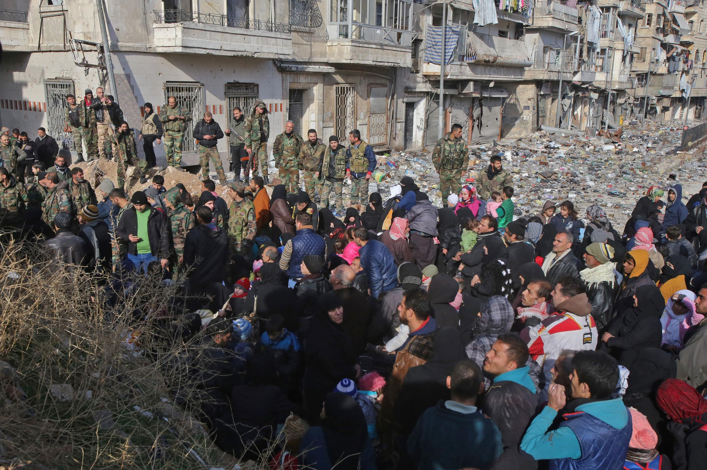 After Aleppo cease-fire, rebel and civilian pullout delayed