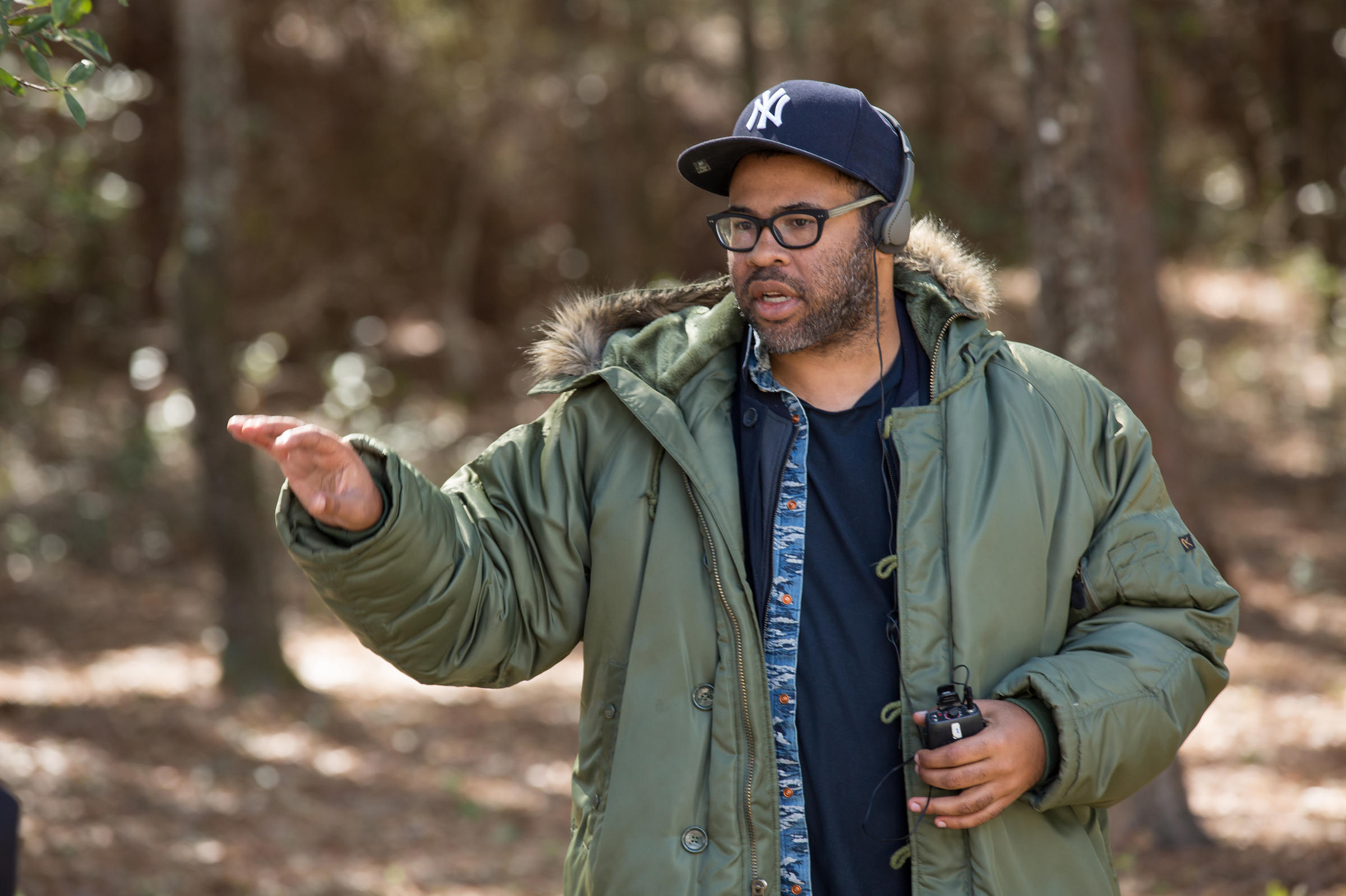 The horror the horror get out and the place of race in scary writer director producer jordan peele directs a scene on the set of his new horror movie get out sciox Choice Image