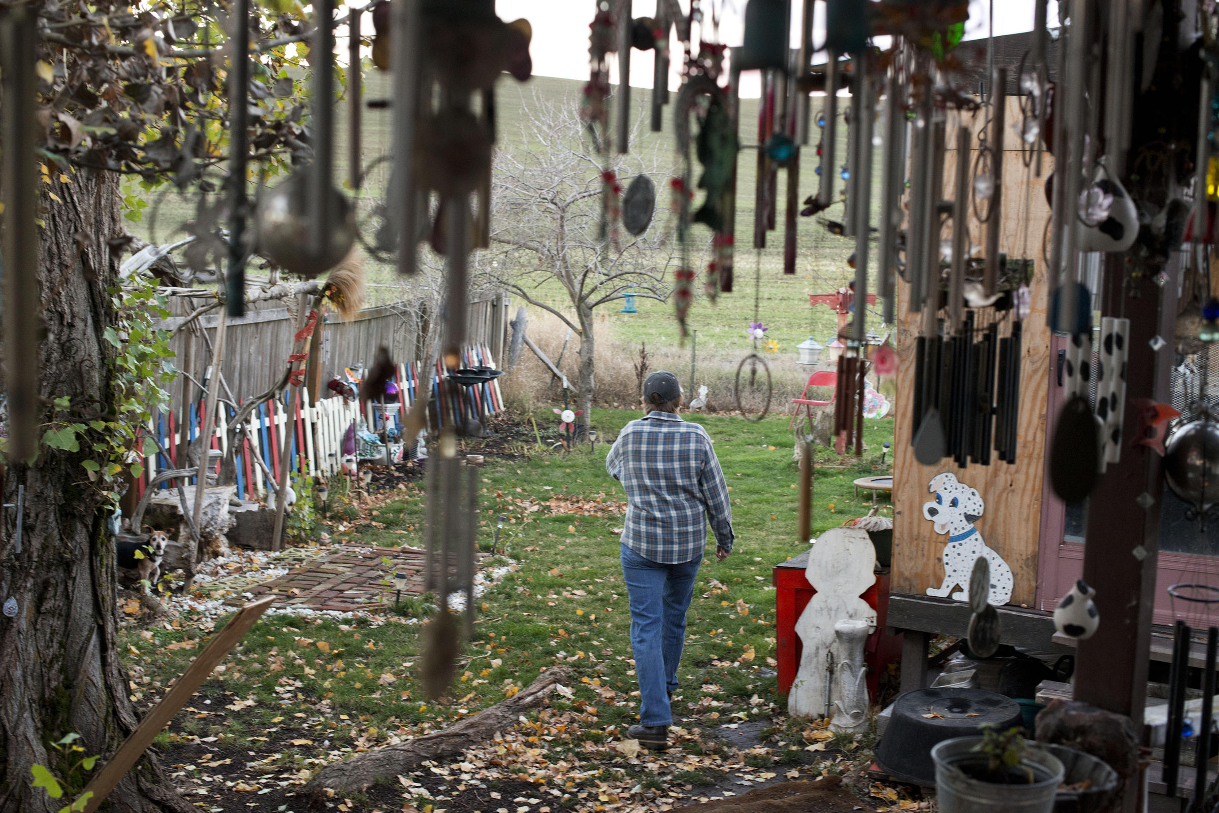 Wind Chimes Hang From Dawn Tachells Front Porch