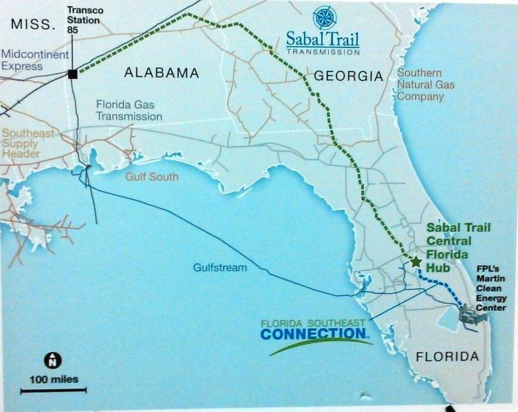 A Map Of Spectra Energy S Pipelines In The Southeast U S