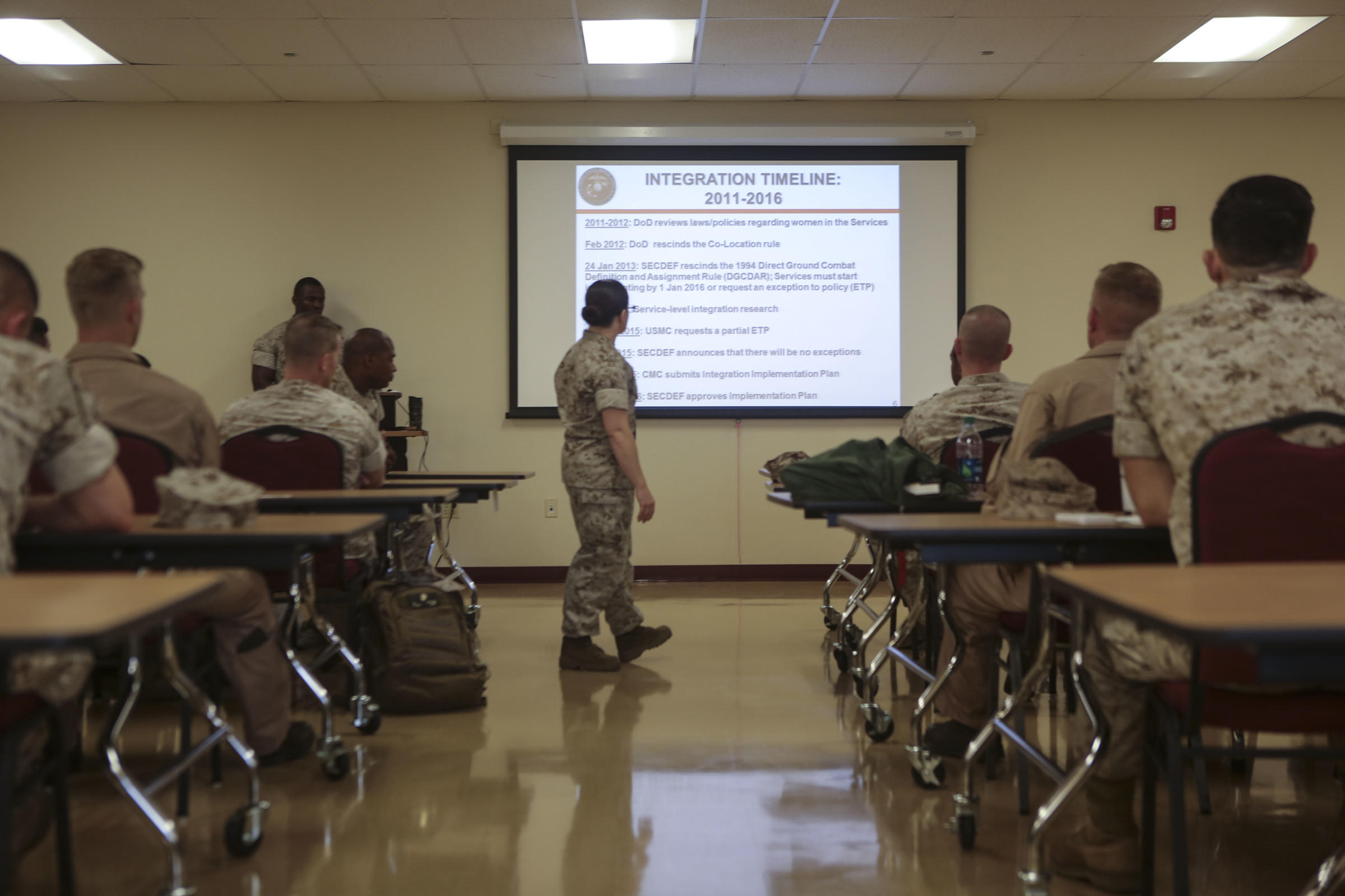 photo scandal hampers effort to improve marine corps culture major misty posey leads a 2016 class for marine corps leaders about integrating women into combat roles