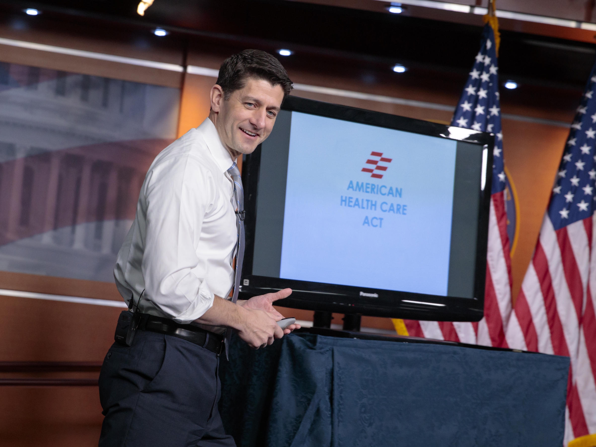 House Speaker Paul Ryan uses charts and graphs to make his case for the GOP's plan to repeal and replace the Affordable Care Act