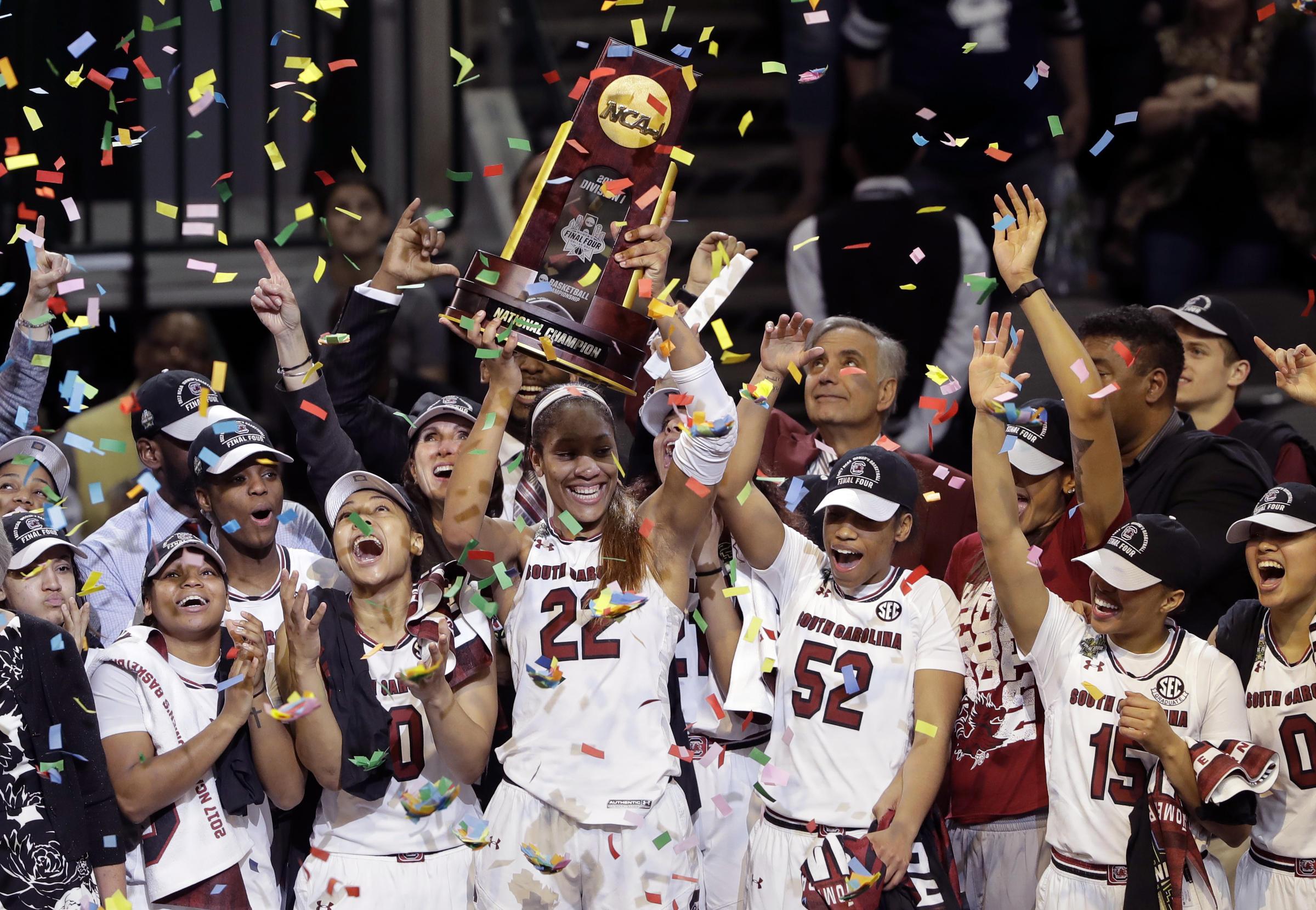 South Carolina Takes Its First Women's NCAA Basketball ...