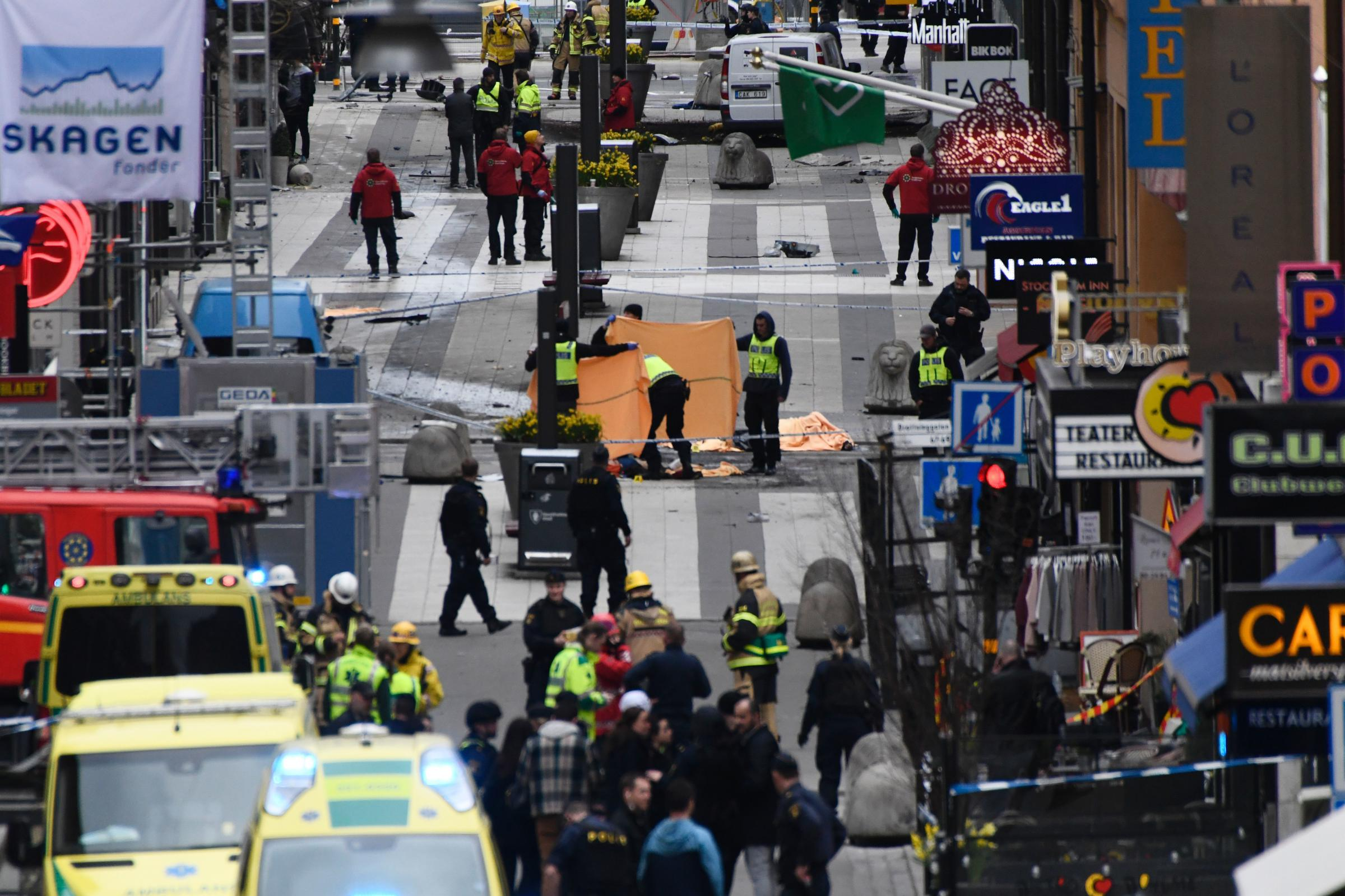 Crowds gather at truck attack site amid Sweden soul searching