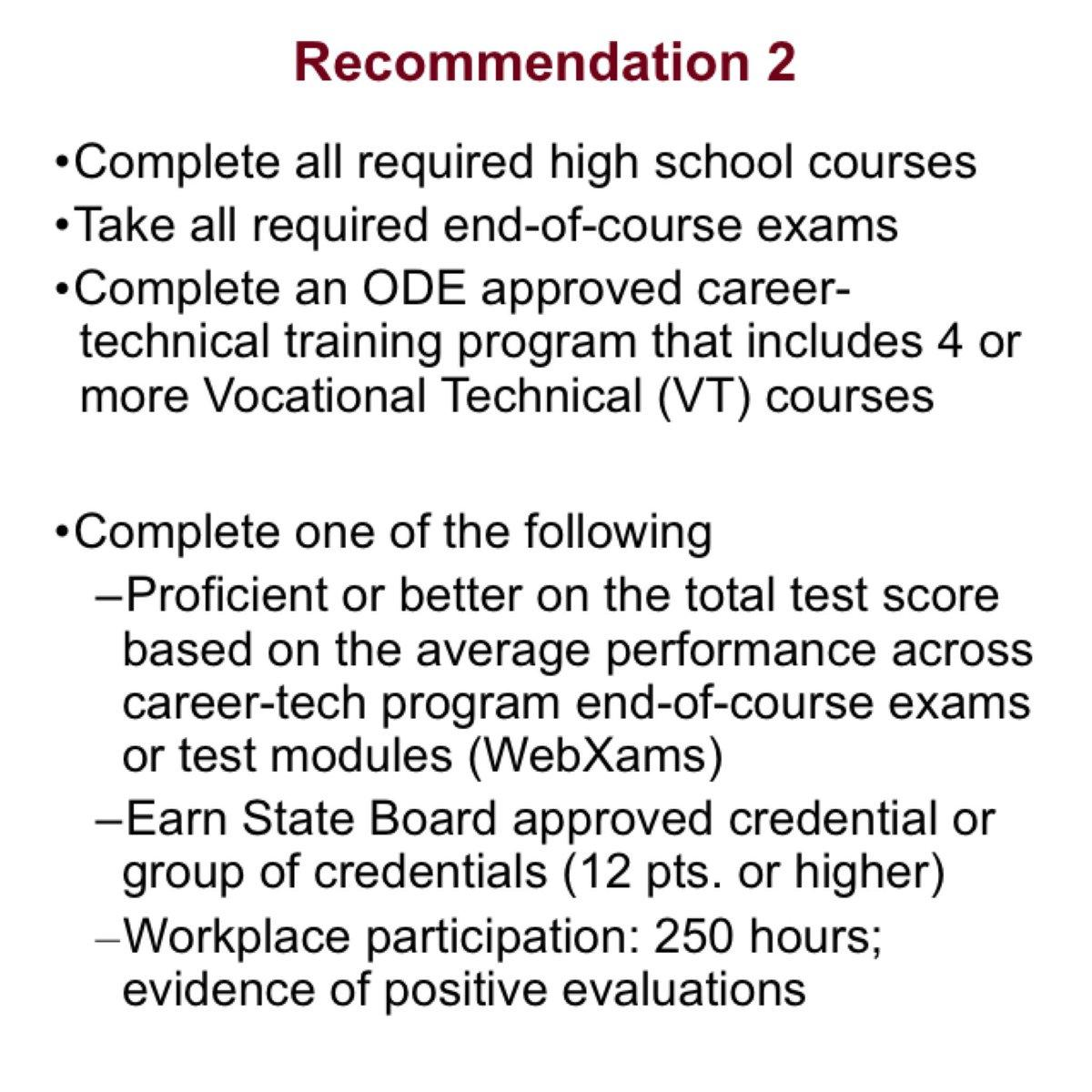 in the room where it happens changes to high school graduation recommendation 2 offers other options along the career technical training pathway