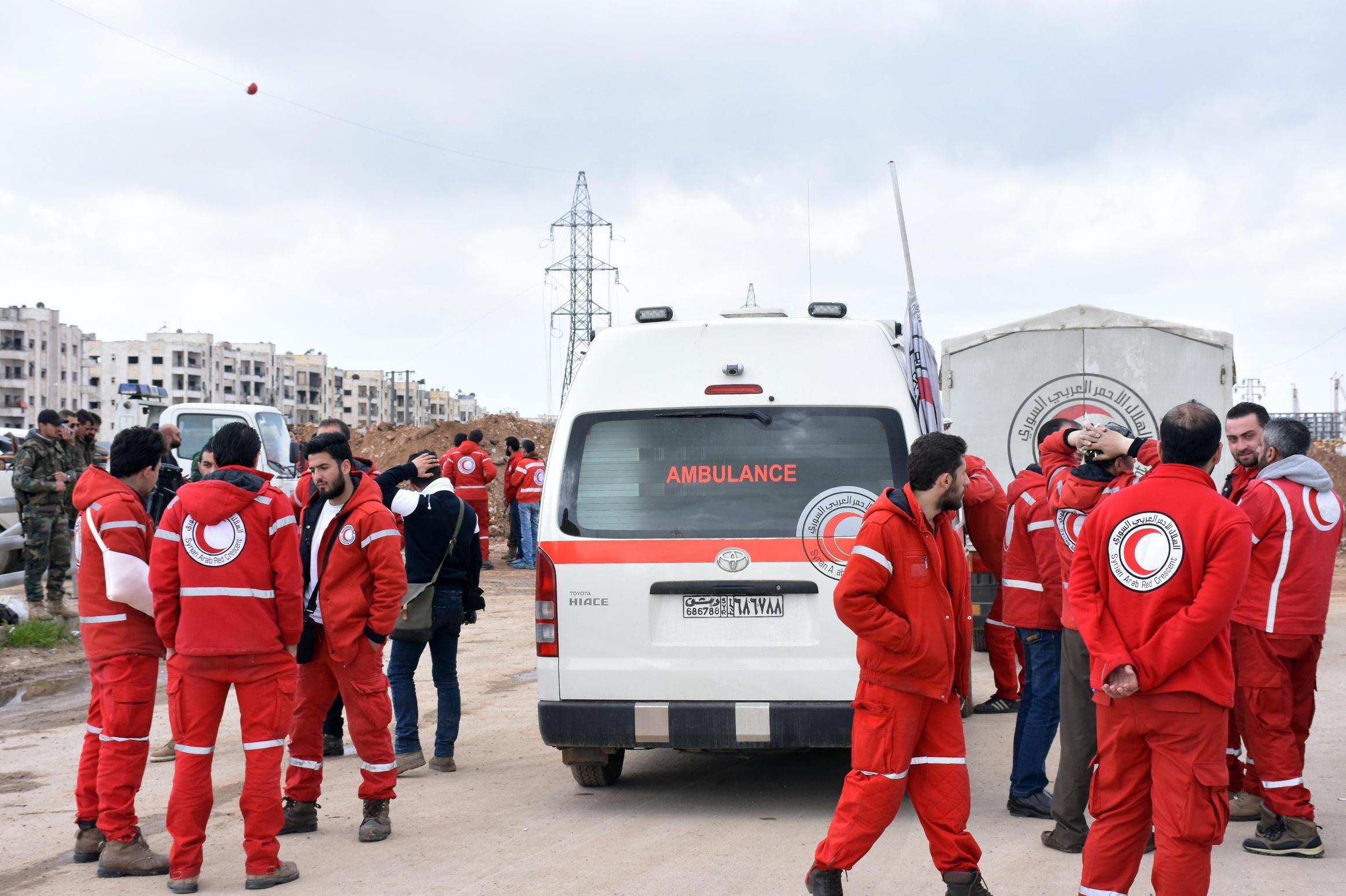 Dozens killed in blast near evacuation buses, Syria TV claims