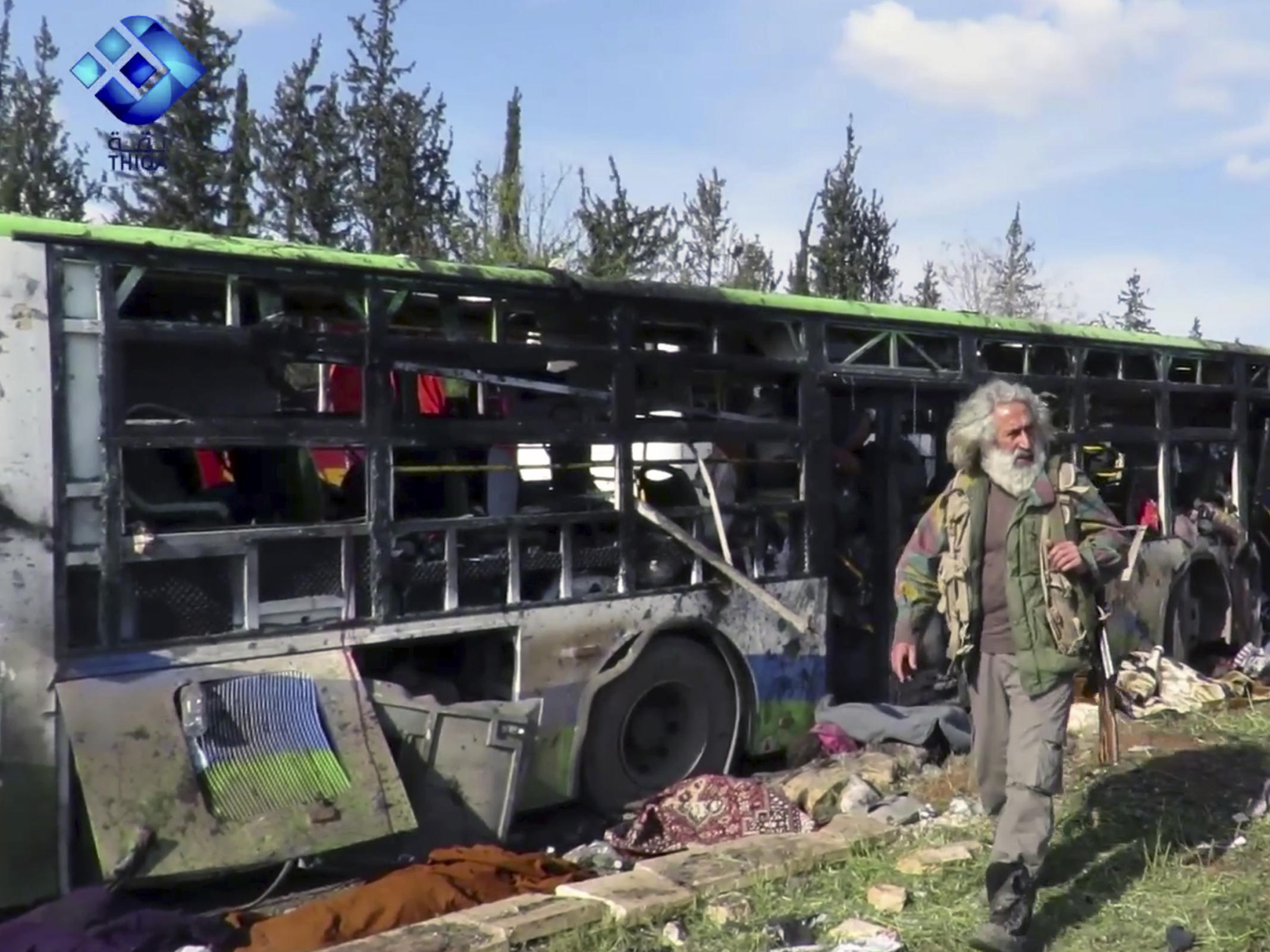 Dead as Blast Rocks Syrian Bus Convoy Near Aleppo