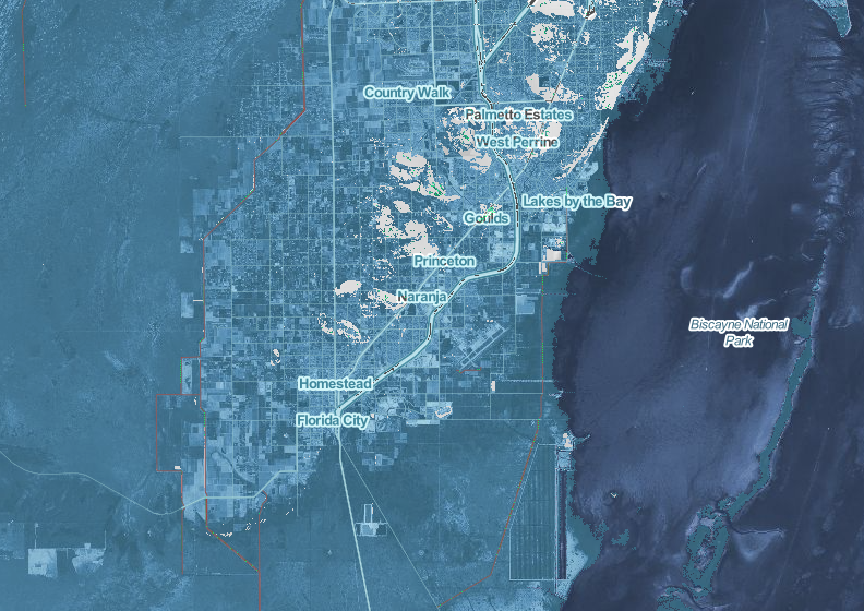 Map Of Southern Florida.Study Finds Extreme Sea Level Rise Could Displace Entire South