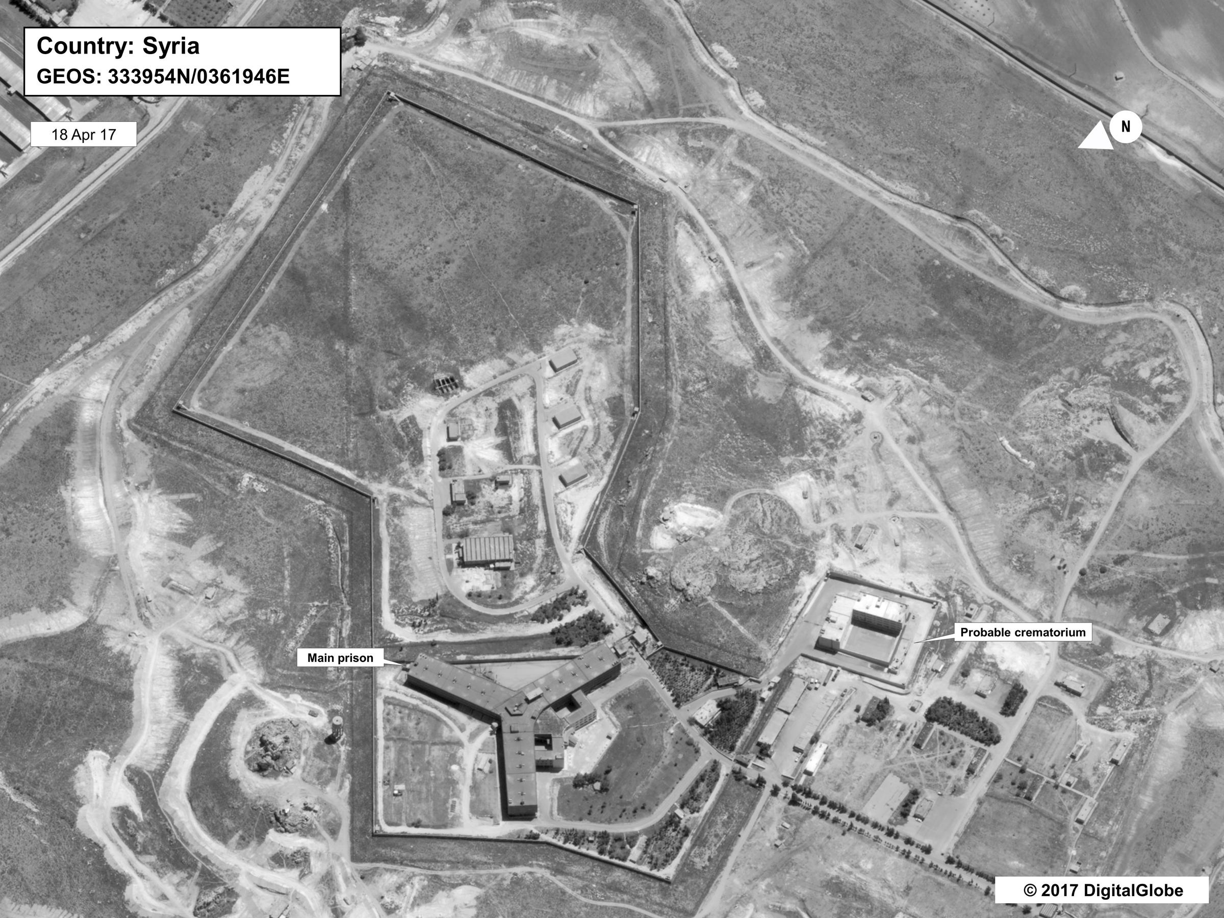 Syrians built crematorium at prison to dispose of bodies, Syria denies accusations