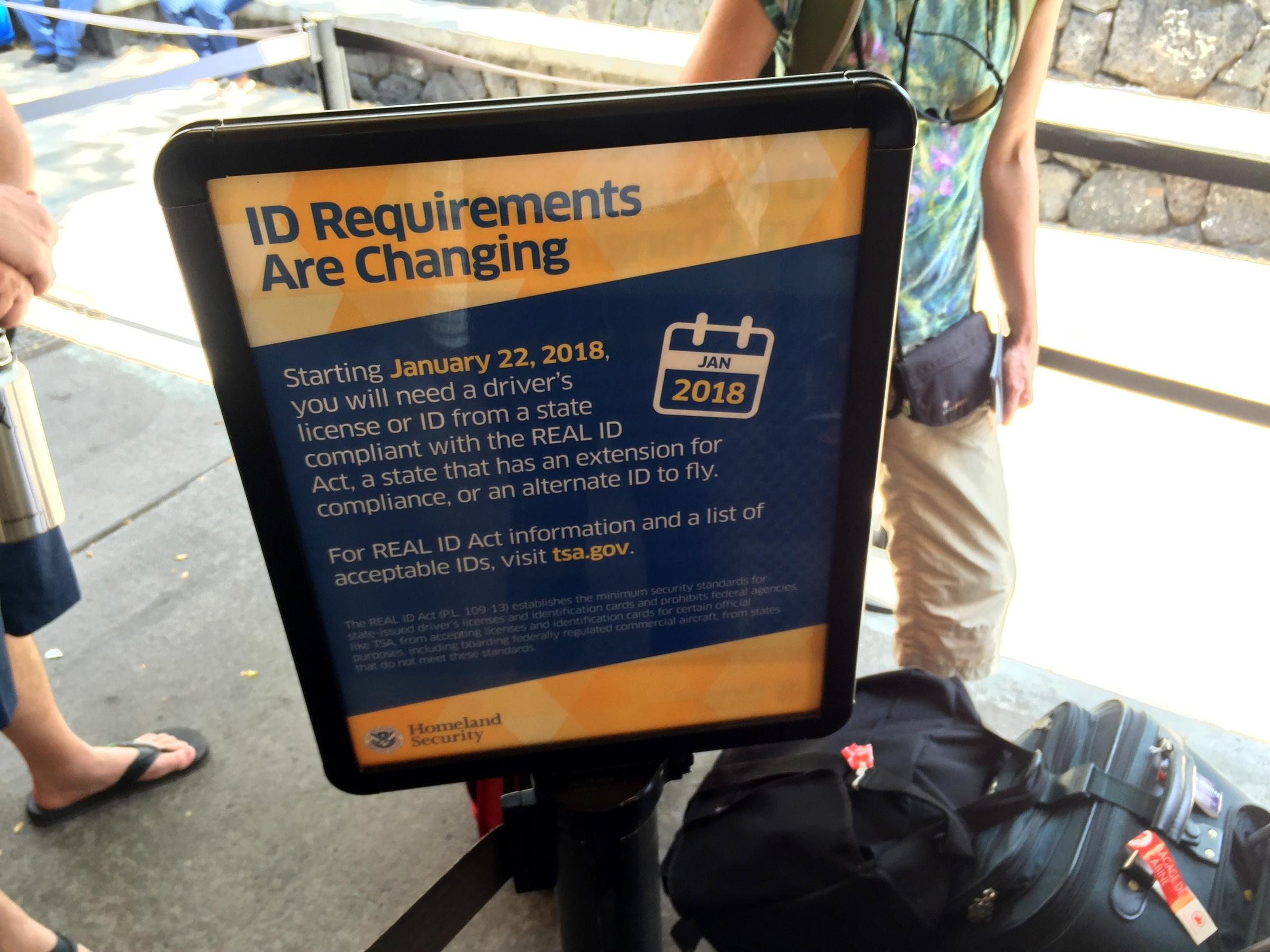 Signs Like This One In Kona, Hawaii, Are Popping Up At Tsa Airport Security