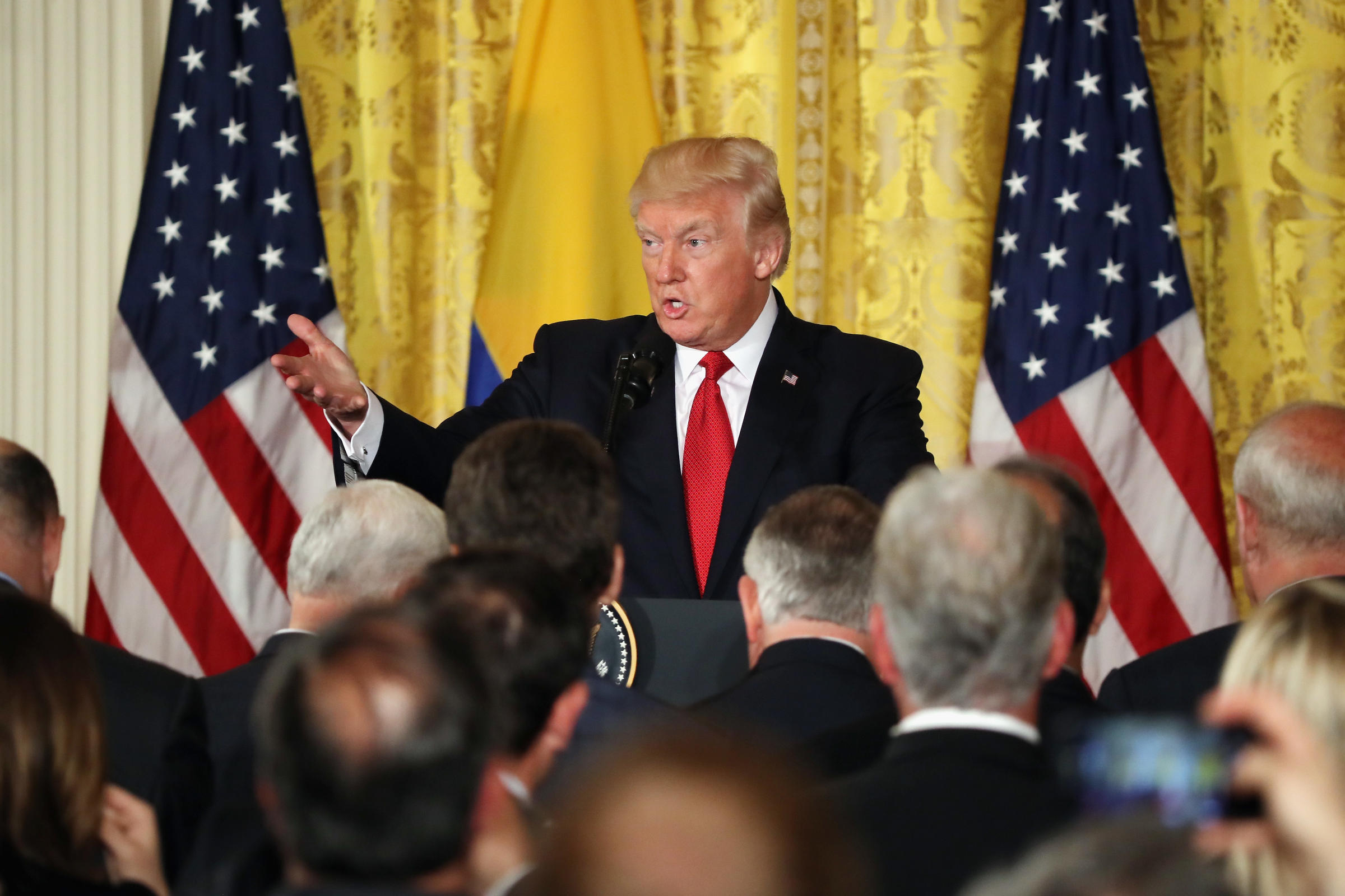 President Trump Holds Press Conference With Colombia's President Before Overseas Trip