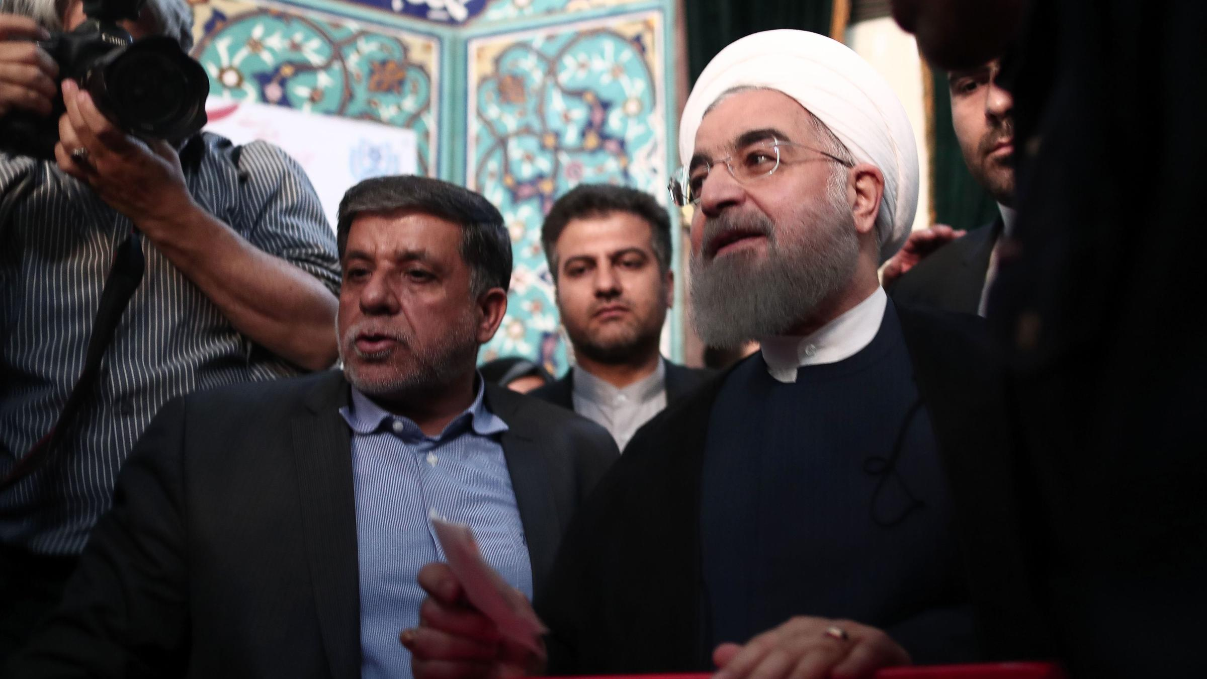 In victory for moderates, Iranian President Hassan Rouhani wins re-election