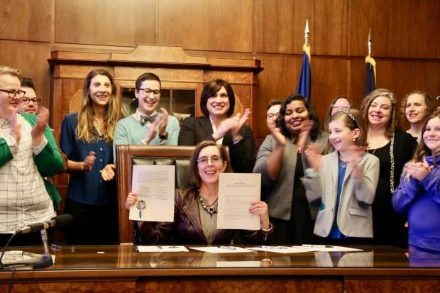 Oregon governor signs transgender equity bill into law