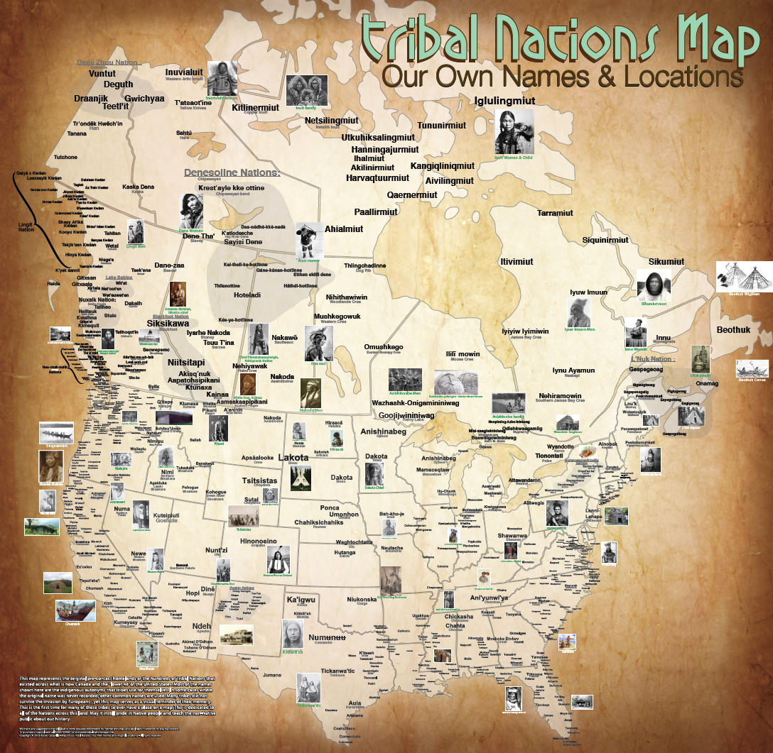 The Map Of Native American Tribes Youve Never Seen Before KUOW - Us and canada map pdf