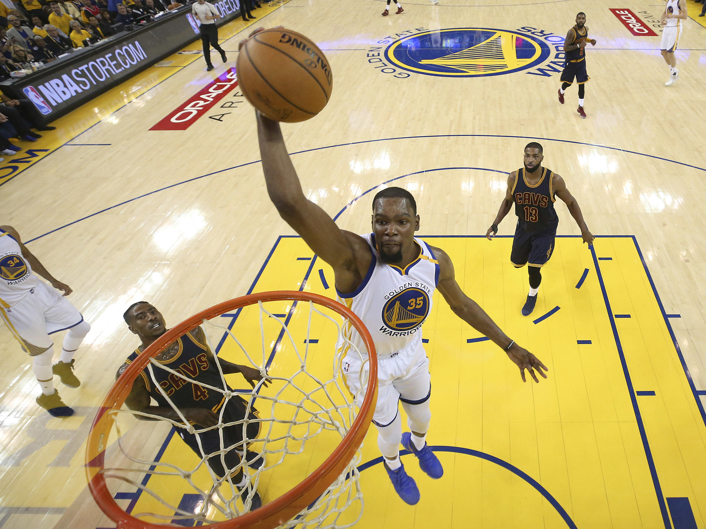 Durant just golden to the Warriors at the start of NBA Finals