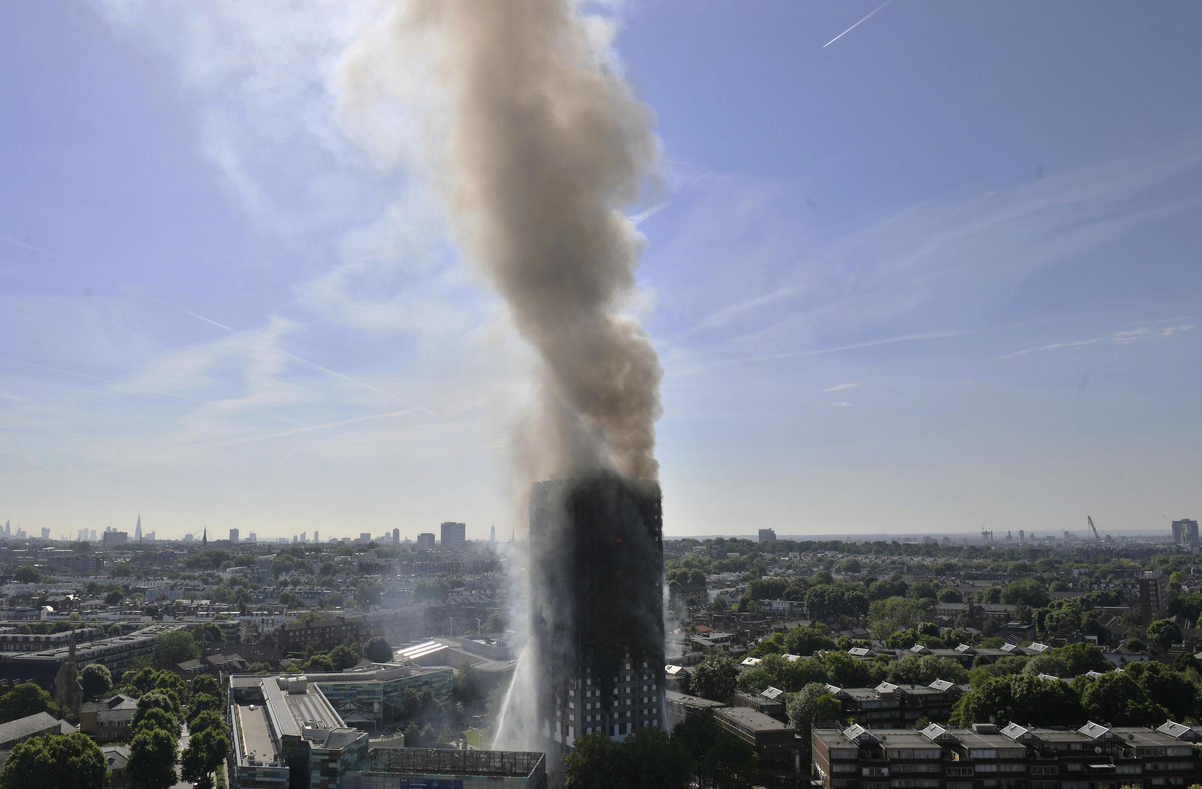 London Firefighters Battling Massive High-Rise Blaze