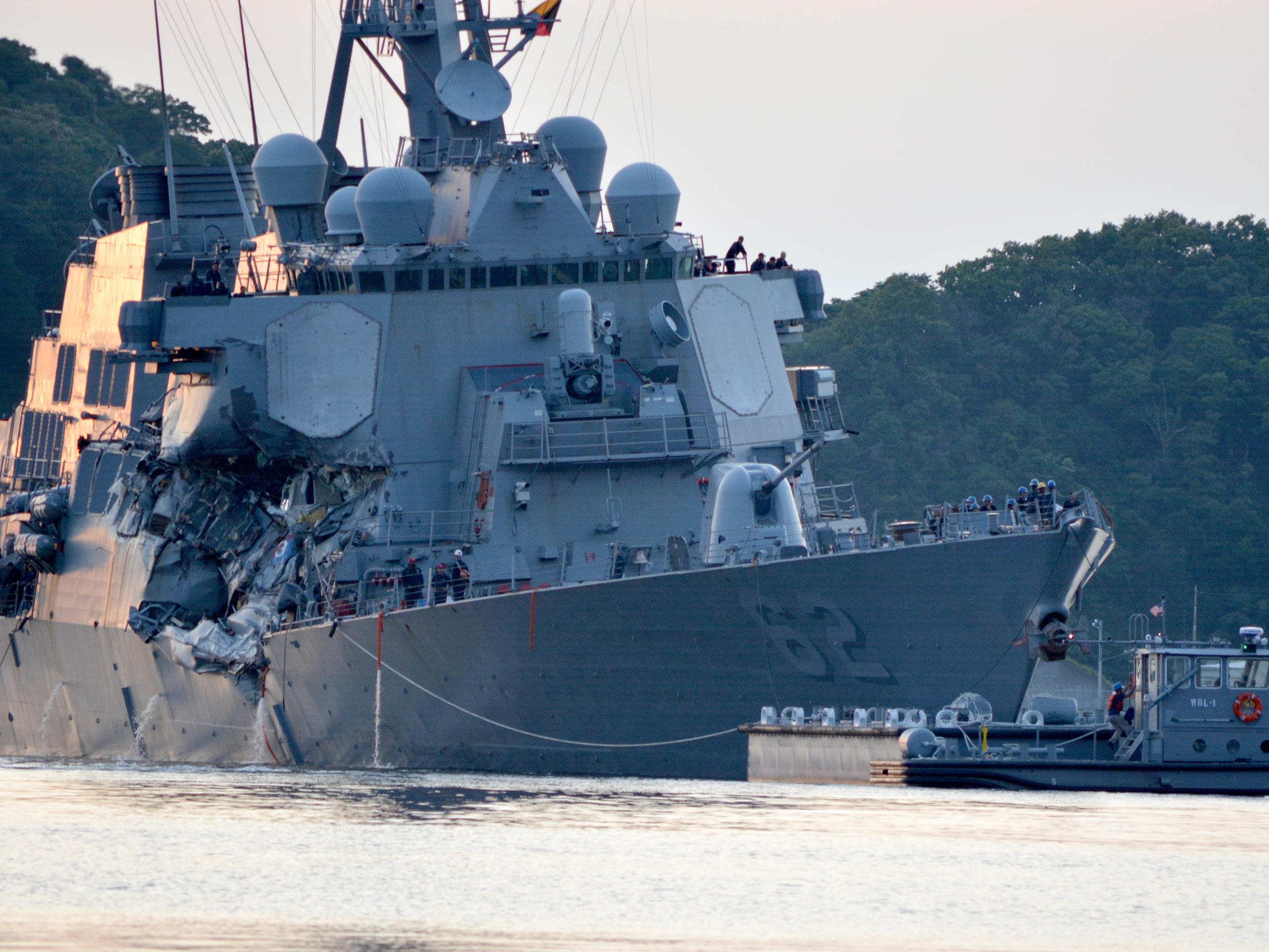 Bodies of 7 missing US Navy sailors found inside damaged warship