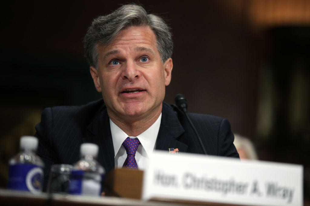 Christopher Wray pledges 'strict independence' as Federal Bureau of Investigation  director
