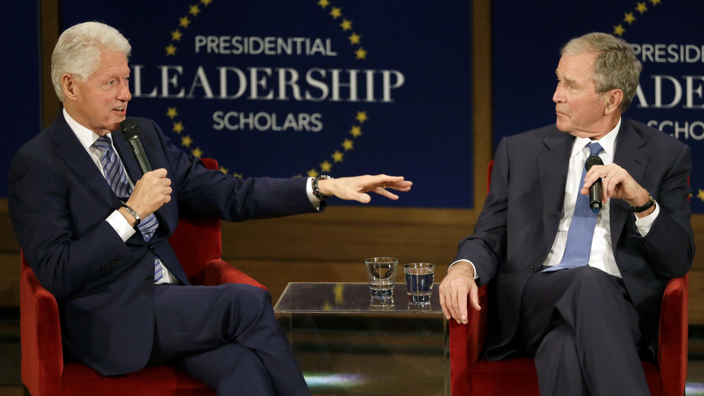 Bush And Bill Clinton Discuss Their Working Relationship, Despite Party Lines