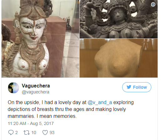 V&A apology after breastfeeding mother told to 'cover up'