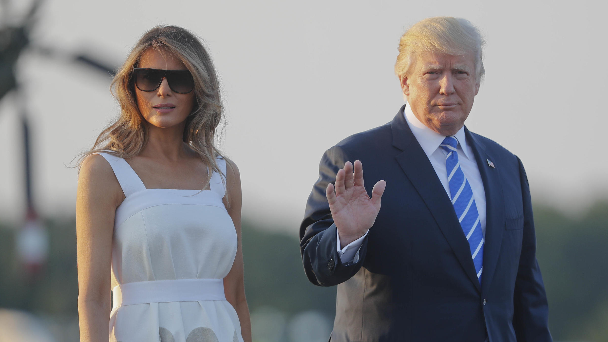 Of Course Donald Trump Looked at the Eclipse Without Glasses""