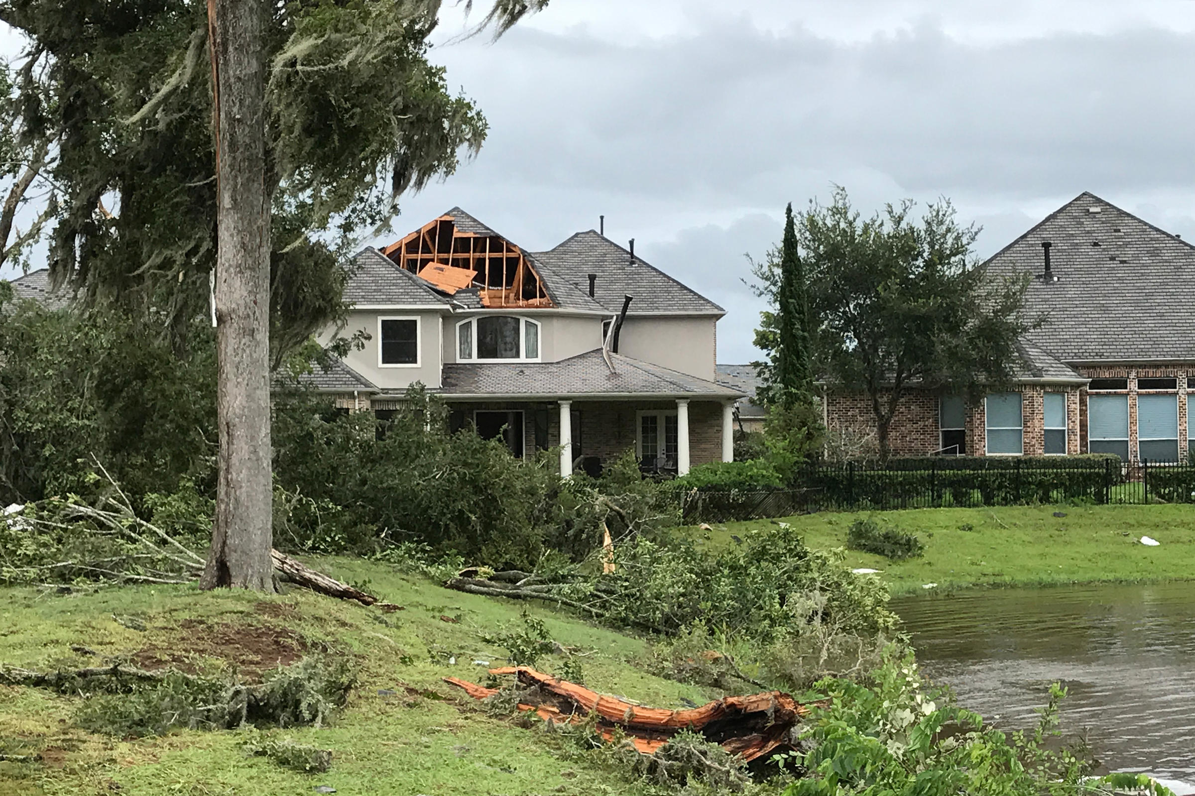 As houston area suburbs wait for harvey to blow over for Sienna house