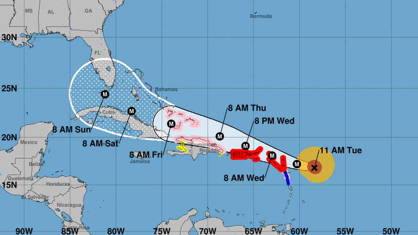 Irma Is Potentially Catastrophic And Is Expected To Remain A Major Hurricane As It Makes Its Way West Toward The U S Mainland S Coast Forecasters Say