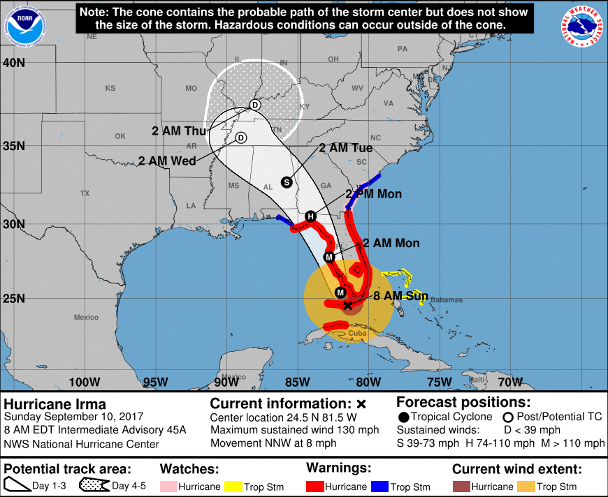 Tropical Storm Jose Could Hit As Another Hurricane Right After Irma