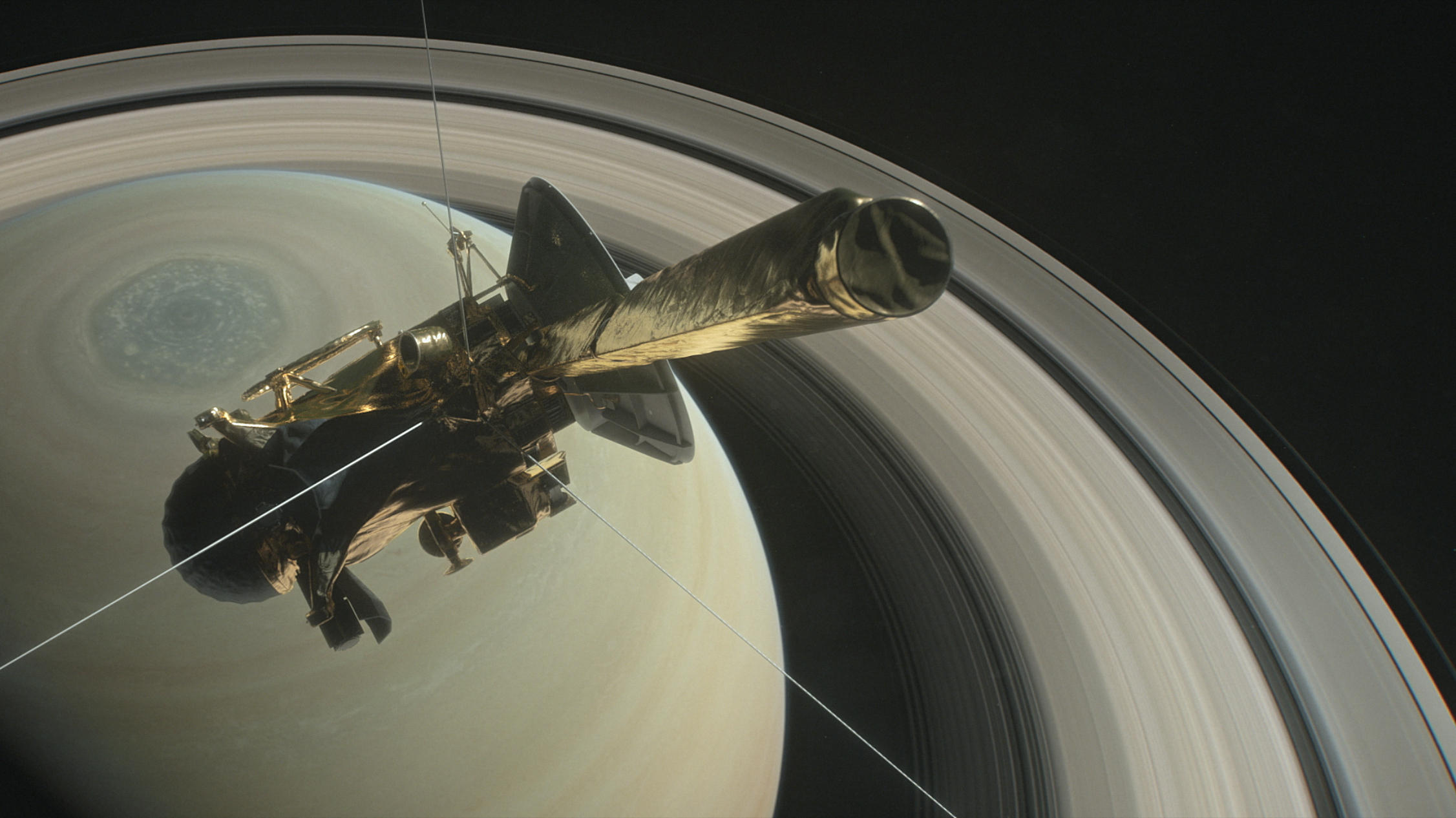 NASA's Cassini spacecraft burns up over Saturn
