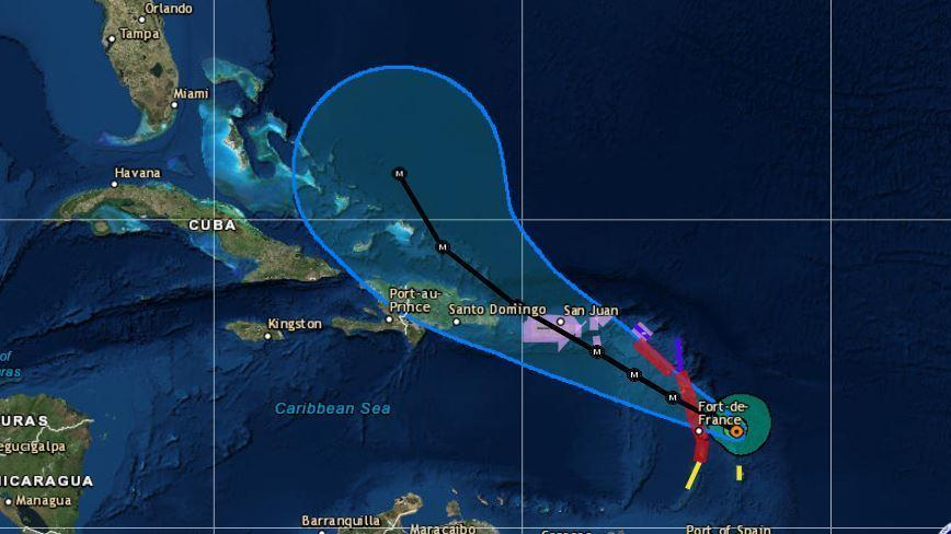 Hurricane Maria Heads Toward Caribbean