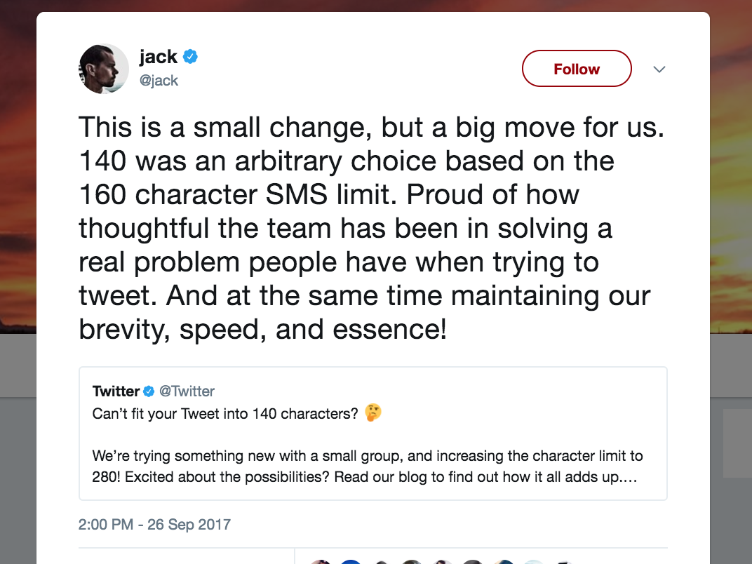 Twitter tests 280-character tweets