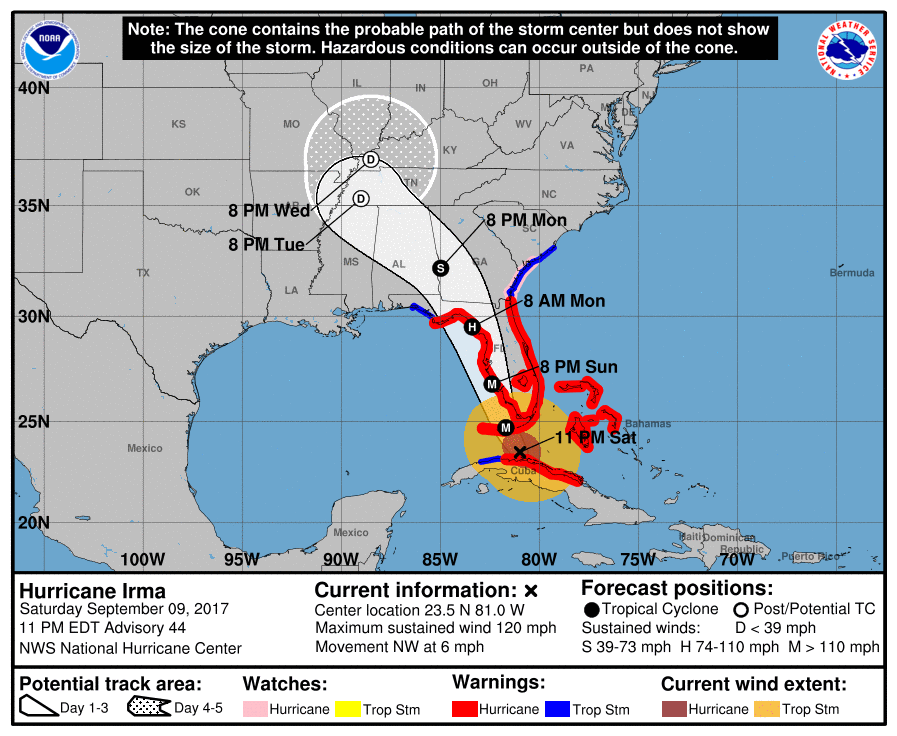 Hurricane Risk Map Florida.As Irma Shifts West Powerful Winds Batter Florida Keys Wkms