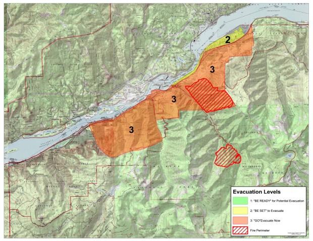 Cascade Locks Fire Map.Eagle Creek Fire Jumps Columbia River Gorge Overnight Jefferson