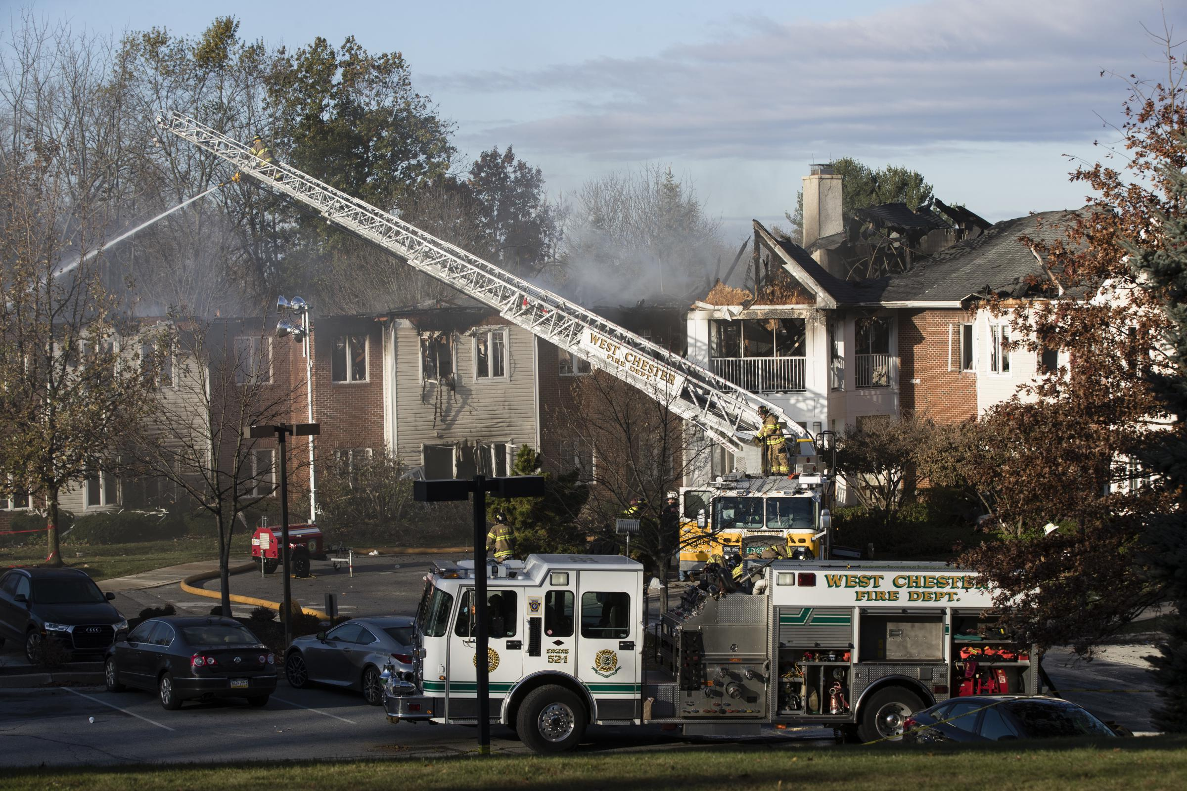 3-alarm fire at West Chester senior living community