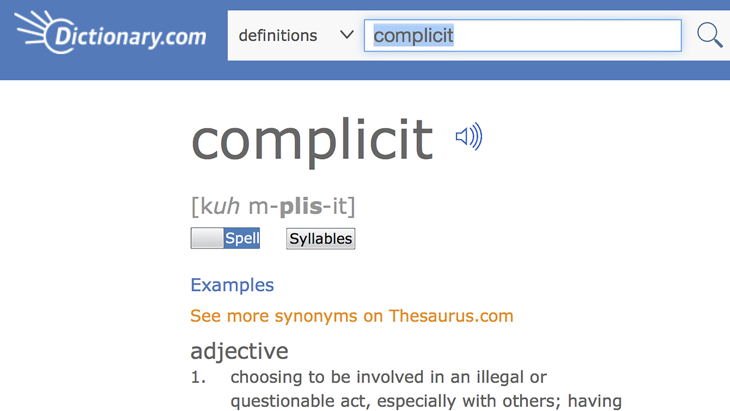 'Complicit' Is The 2017 Word Of The Year, Dictionary.com Says