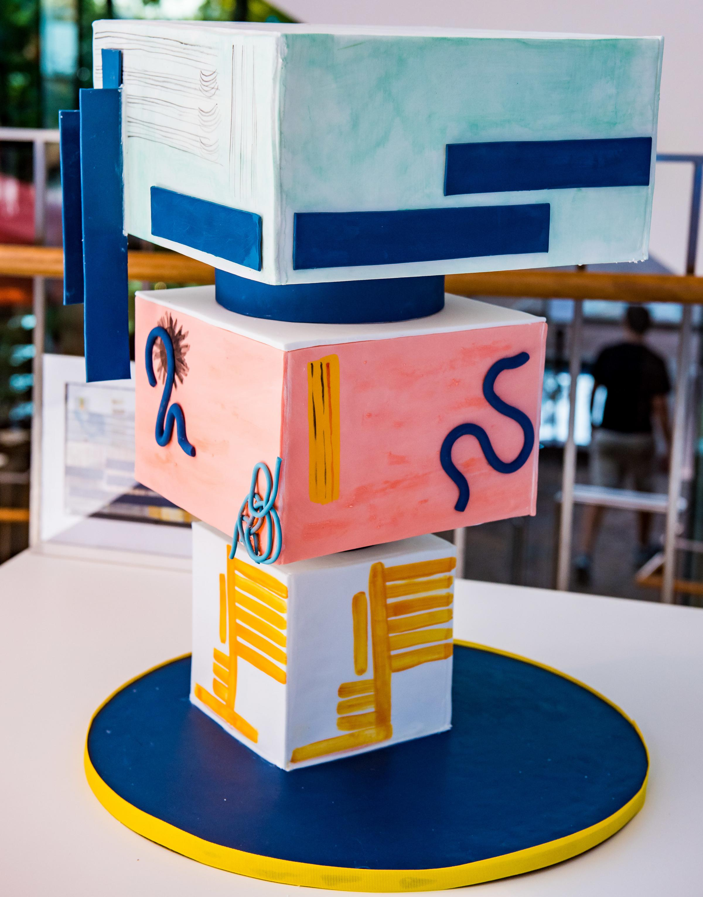 Mota's art-inspired cake at an event for the Birmingham Museum of Art