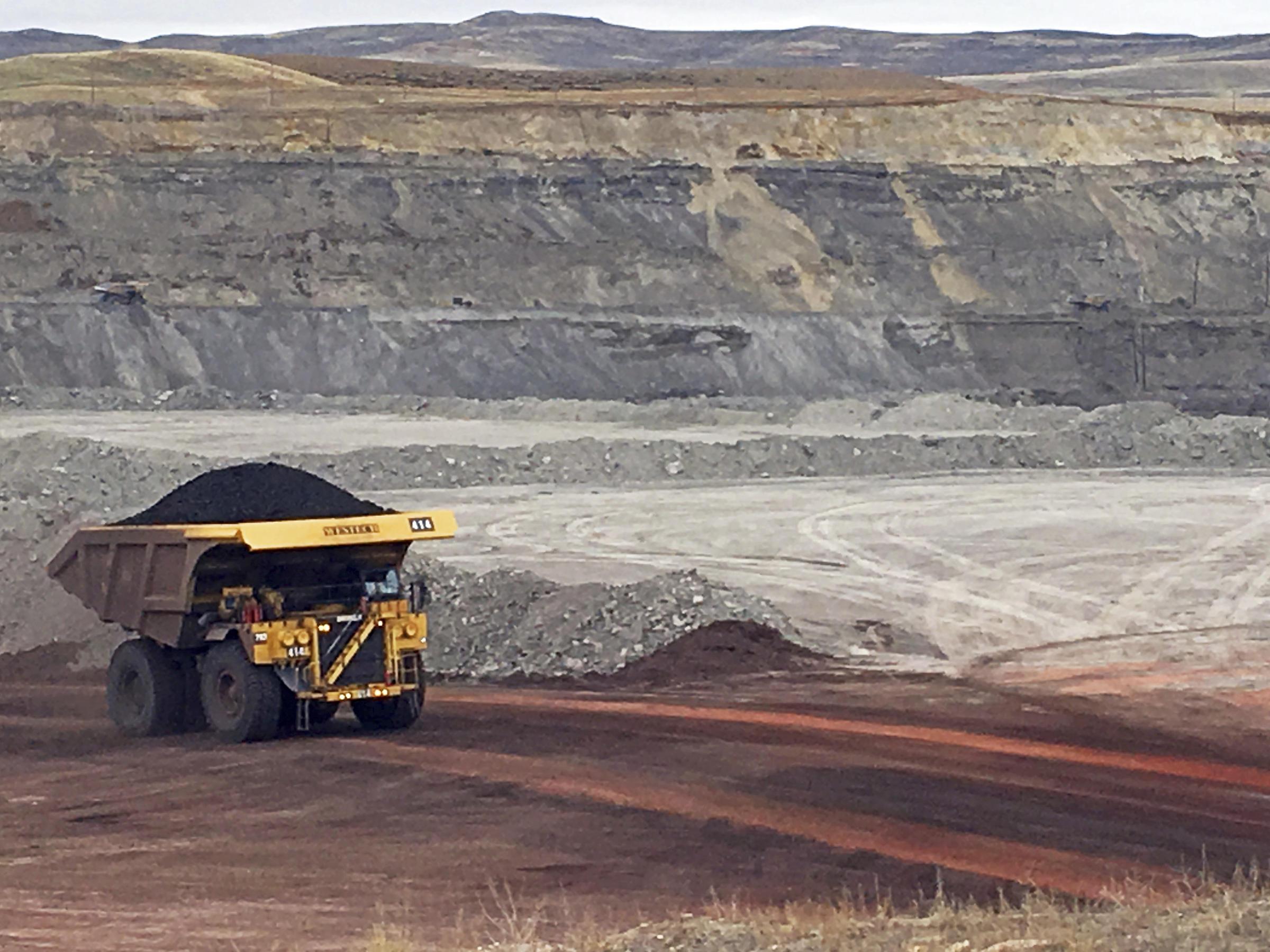 a dump truck hauls coal at contura energys eagle butte mine near gillette wyo - Xecutive Resume Examples