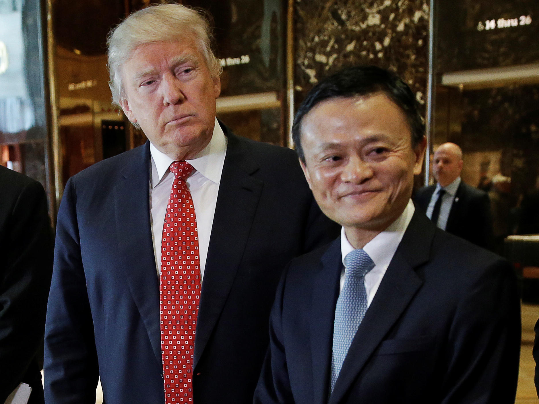 Alibaba Executive Chairman Jack Ma visited President-elect Donald Trump in January of 2017 as his company was launching an attempt to buy MoneyGram