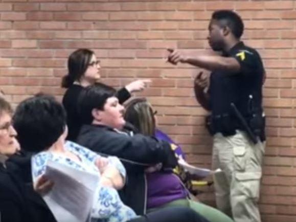 A video on You Tube shows teacher Deyshia Hargrave expelled from a Vermilion Parish school board meeting in Louisiana