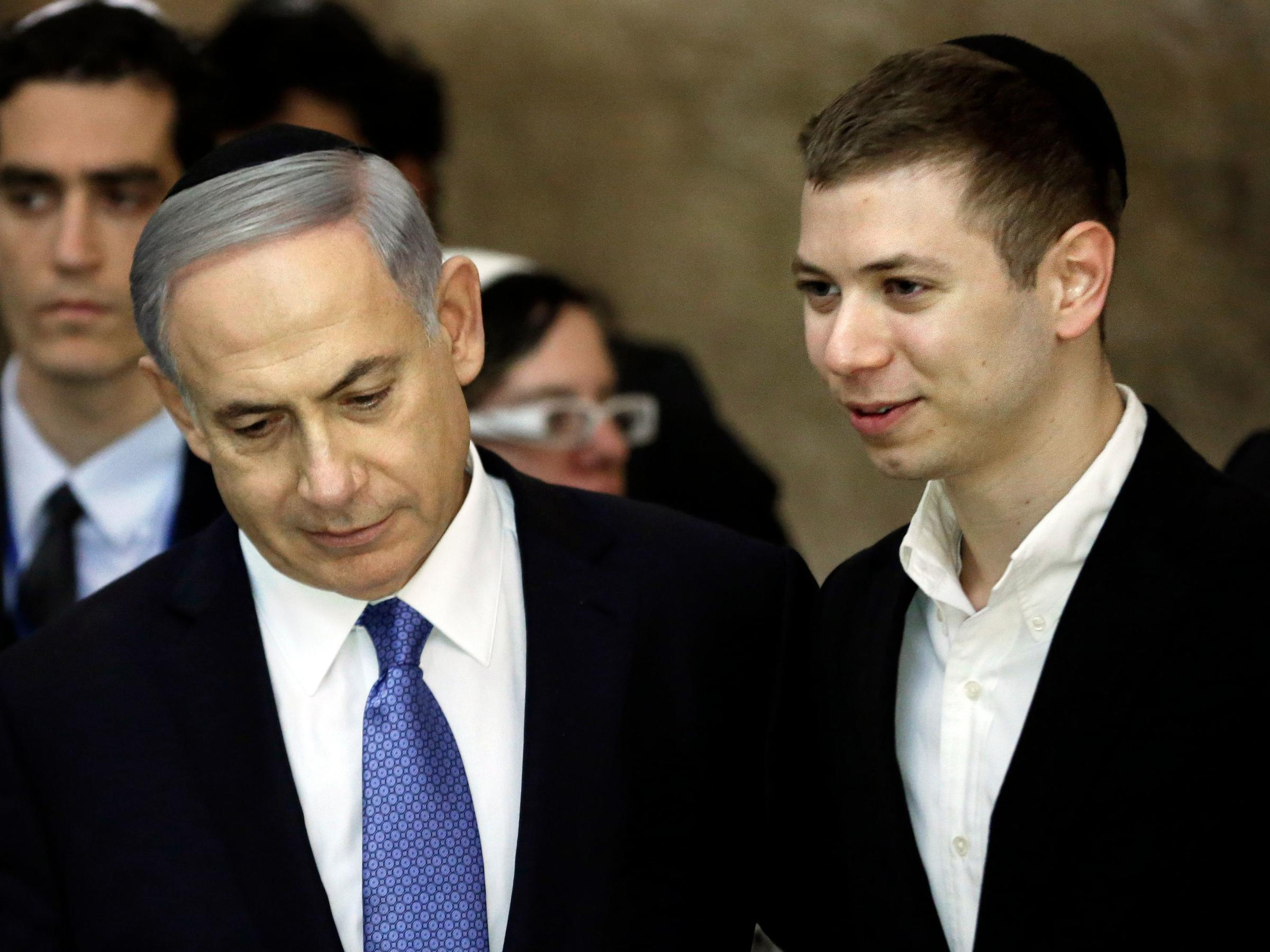 Netanyahu defends son taped illicitly outside strip club