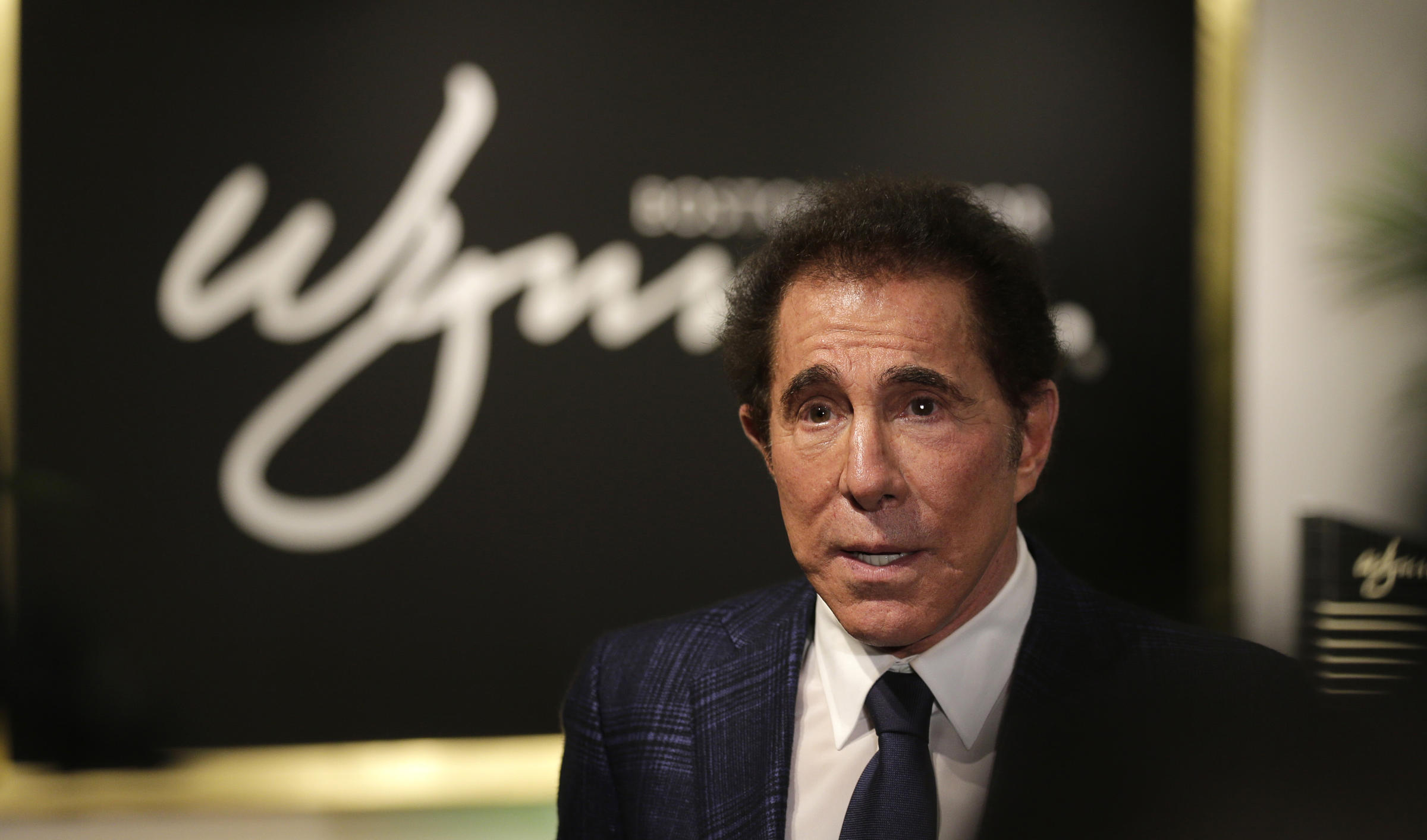 Casino mogul Steve Wynn during a news conference in Medford Mass. Tuesday