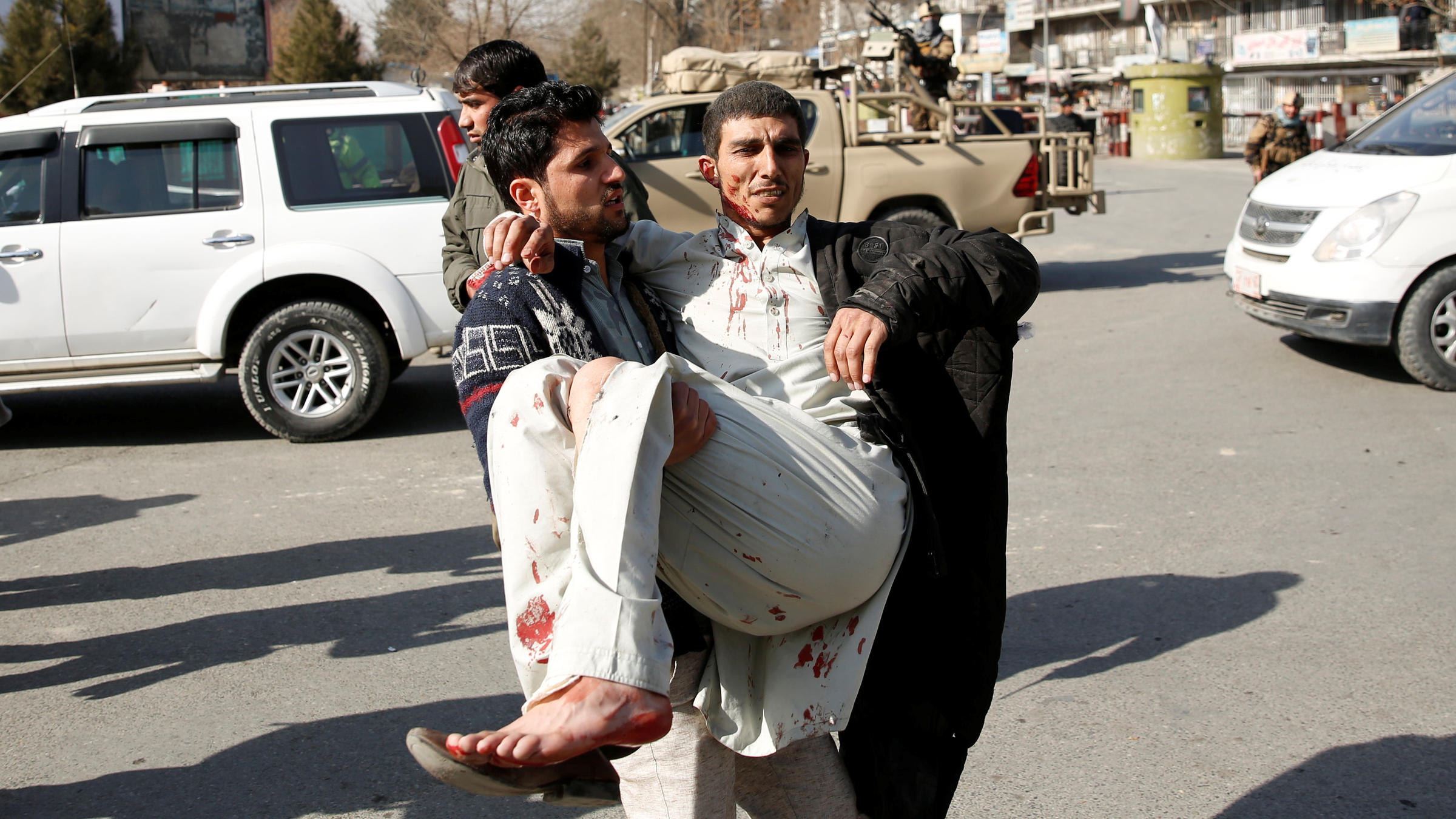 At least 70 wounded in Afghan bombing attack