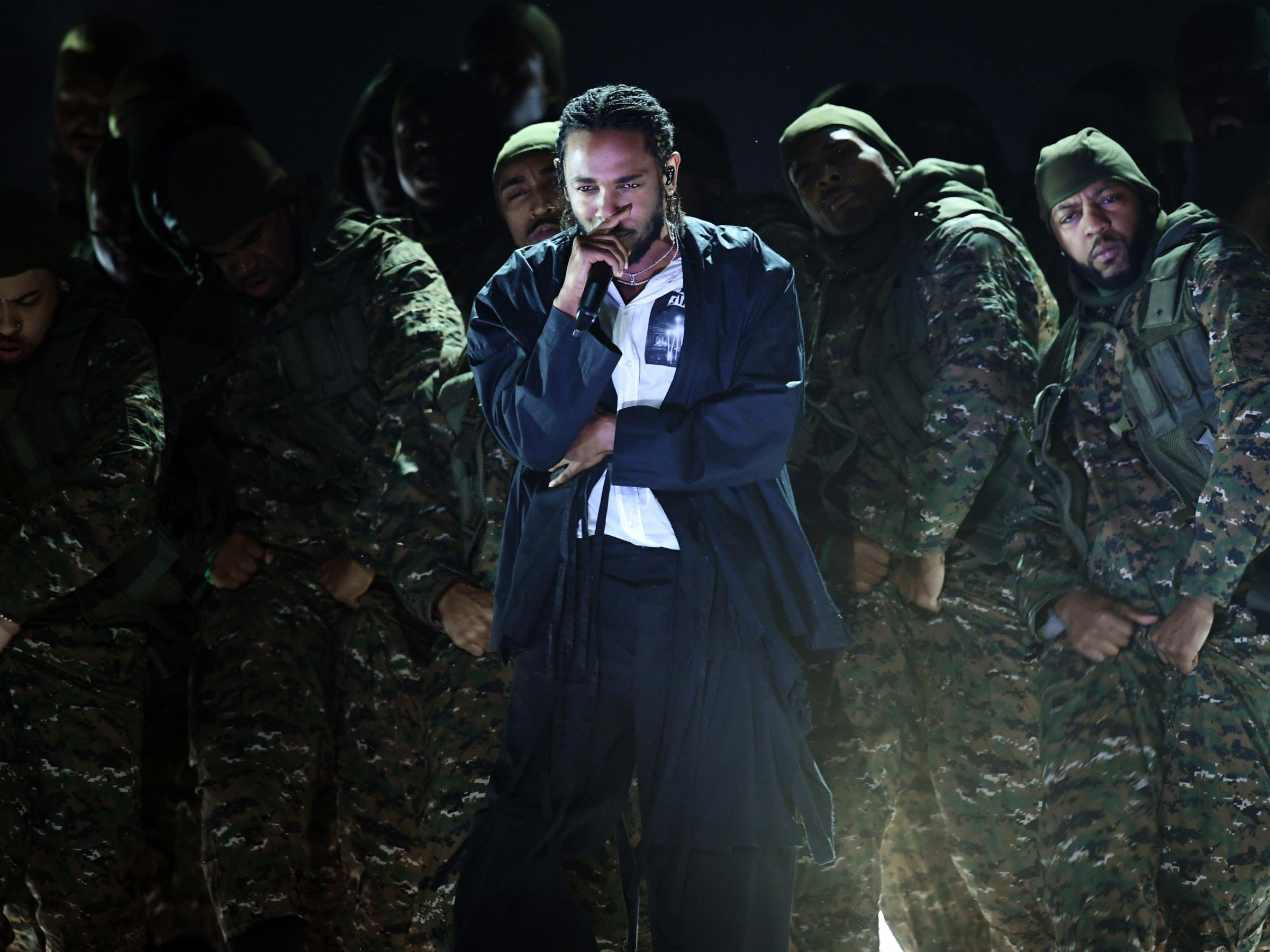 Kendrick Lamar and Lady Gaga offer contrasting Grammy performances