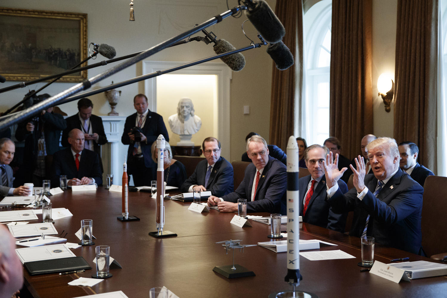In This March 8, 2018, Photo, President Donald Trump Speaks During A Cabinet