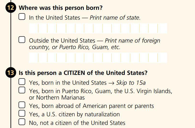 Fact Check Has Citizenship Been A Standard Census Question  Maine