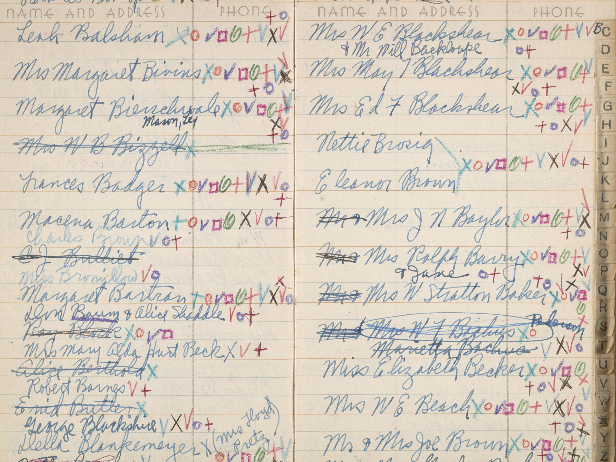 archives of american art smithsonian institution jackson pollock and lee krasners address book circa 1950 1956 jackson pollock and lee krasners address