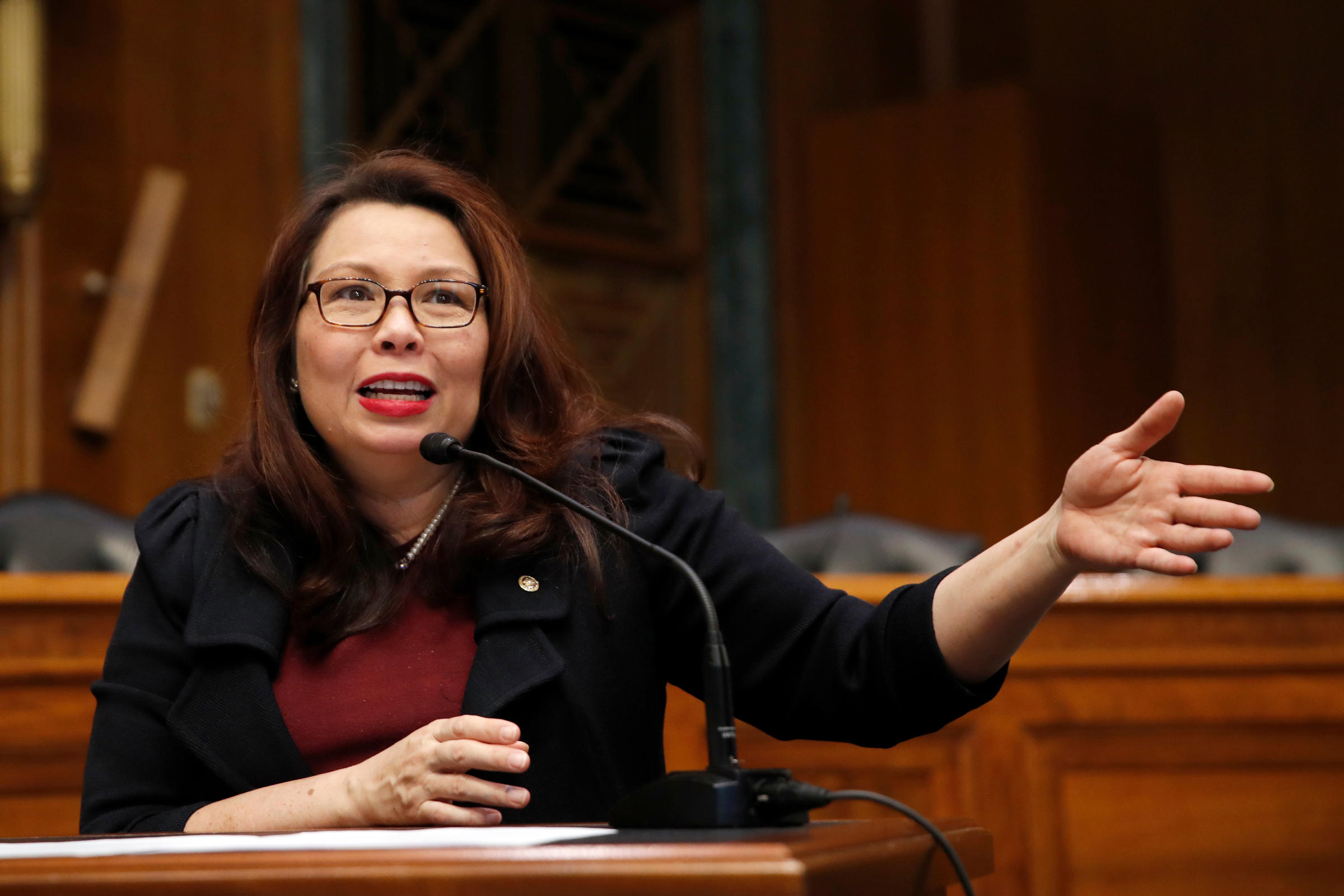 US senator first to give birth while in office
