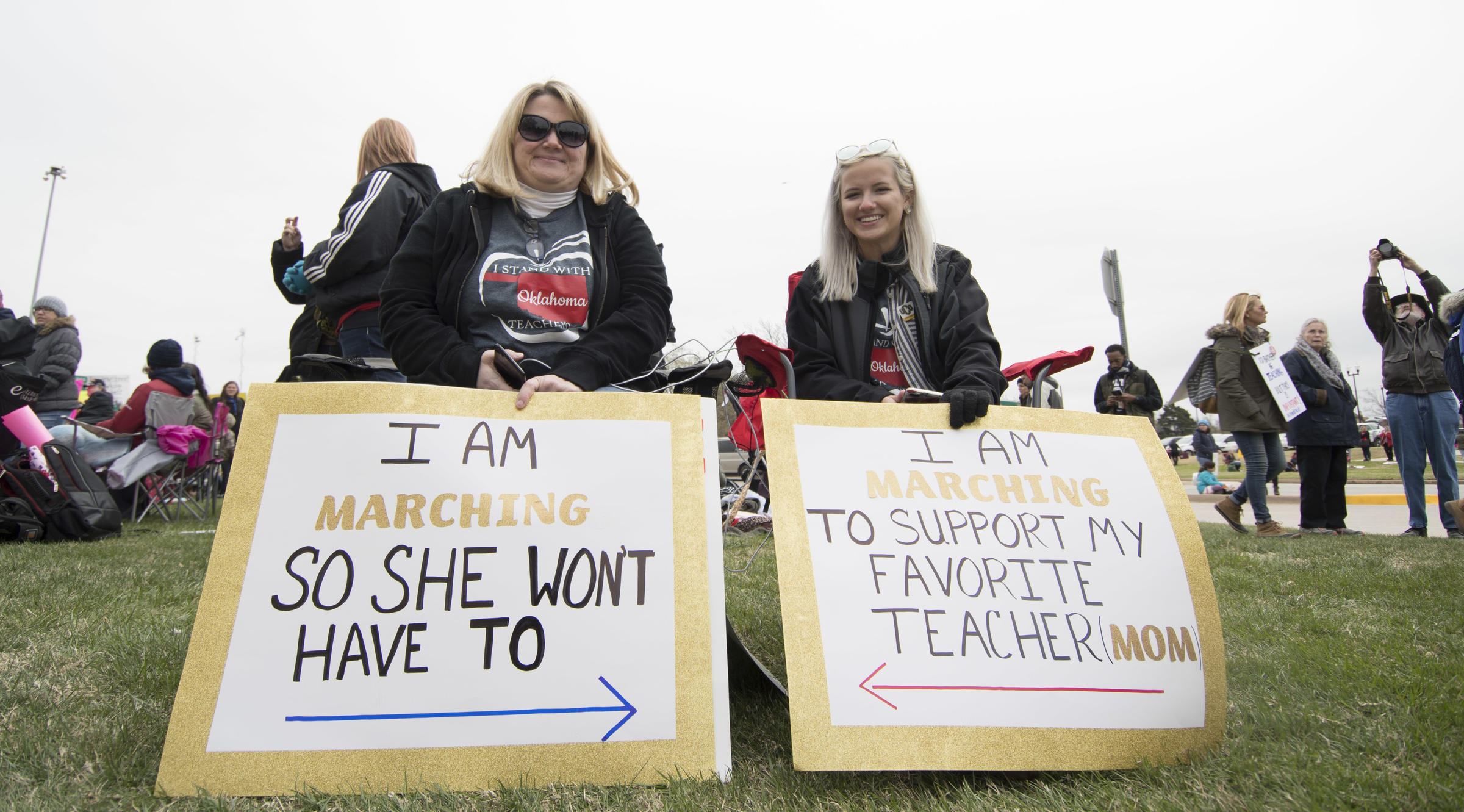 Teachers Remain At Capitol Despite OEA Walkout Announcement